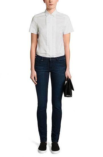 Standard-Fit Bluse aus Baumwoll-Mix: 'Baphina', Weiß