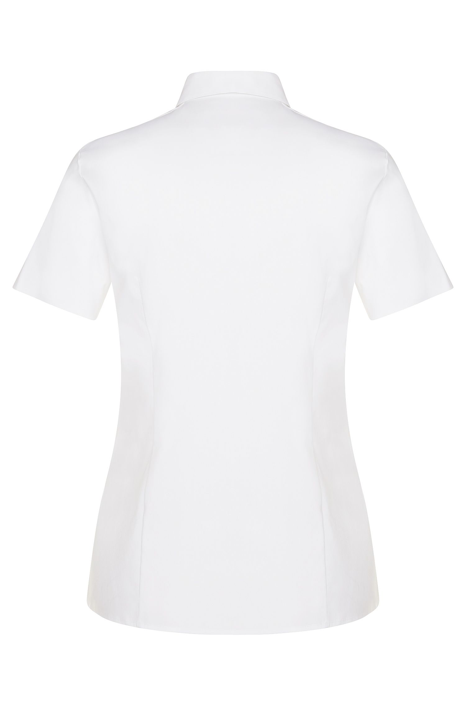 Standard-Fit Bluse aus Baumwoll-Mix: 'Baphina'