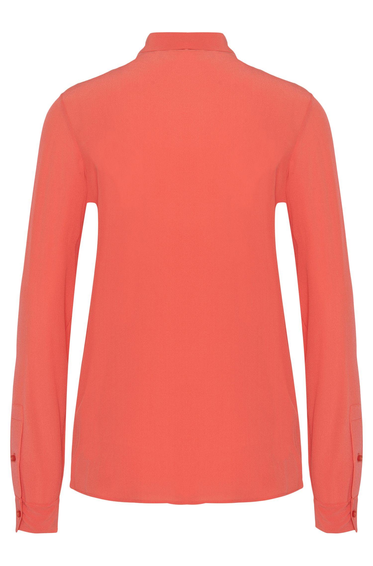 Regular-Fit Bluse aus Seide mit krempelbaren Ärmeln: 'Relara'