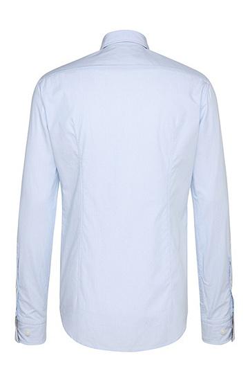 Regular-Fit Hemd aus texturierter Baumwolle: ´C-Buster`, Dunkelblau