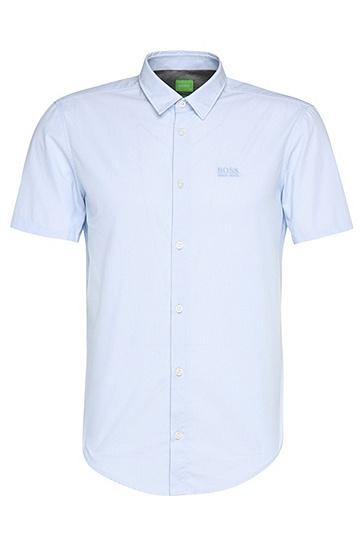 Regular-Fit Kurzarm-Hemd aus Baumwolle: ´C-Busterino`, Dunkelblau