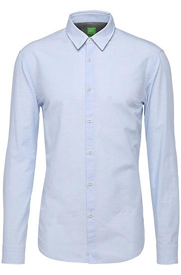 Regular-Fit Hemd aus Baumwolle: ´C-Briar`, Blau