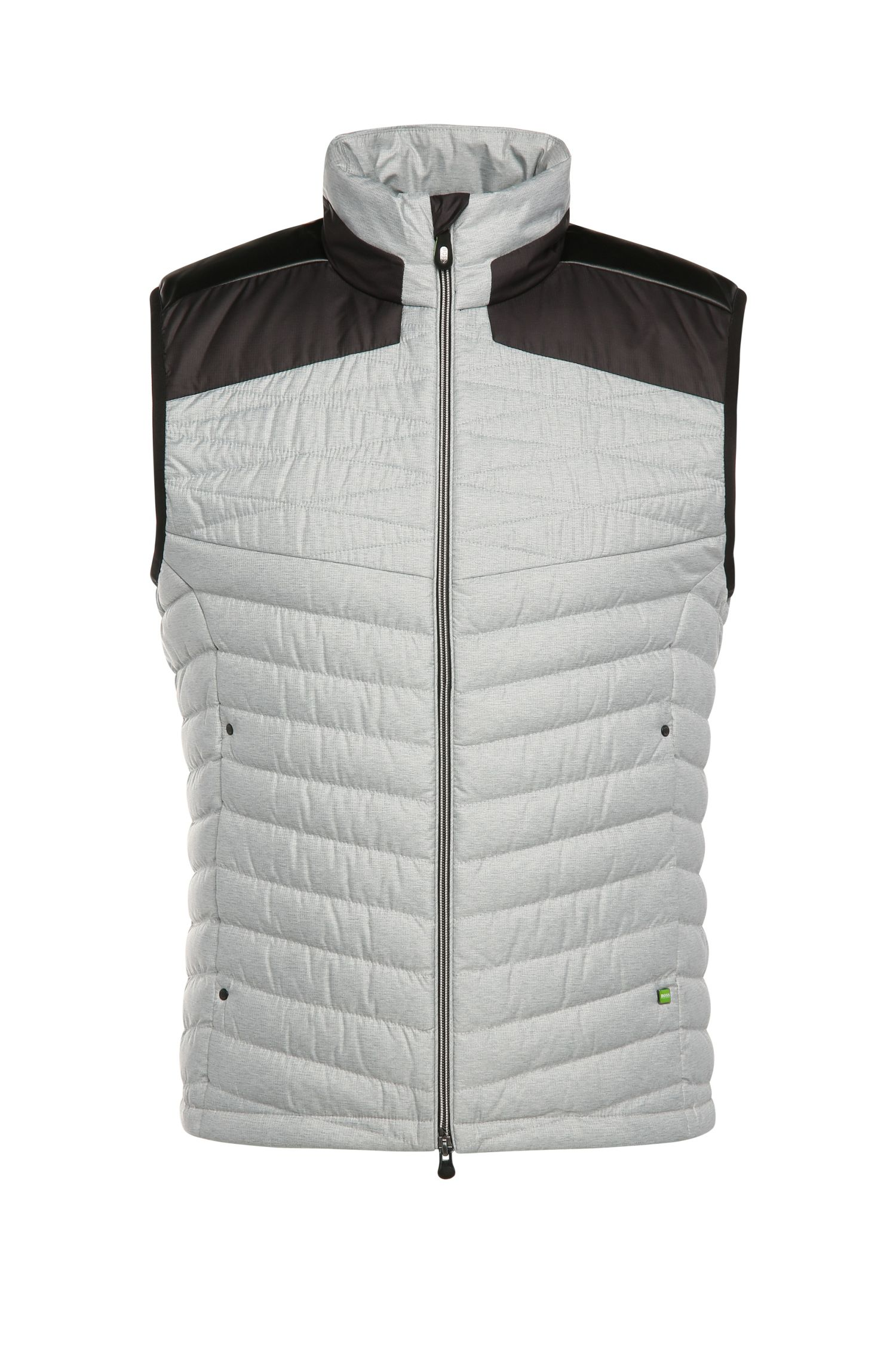 2-tone outdoor quilted waistcoat with down padding: 'Vakobo'