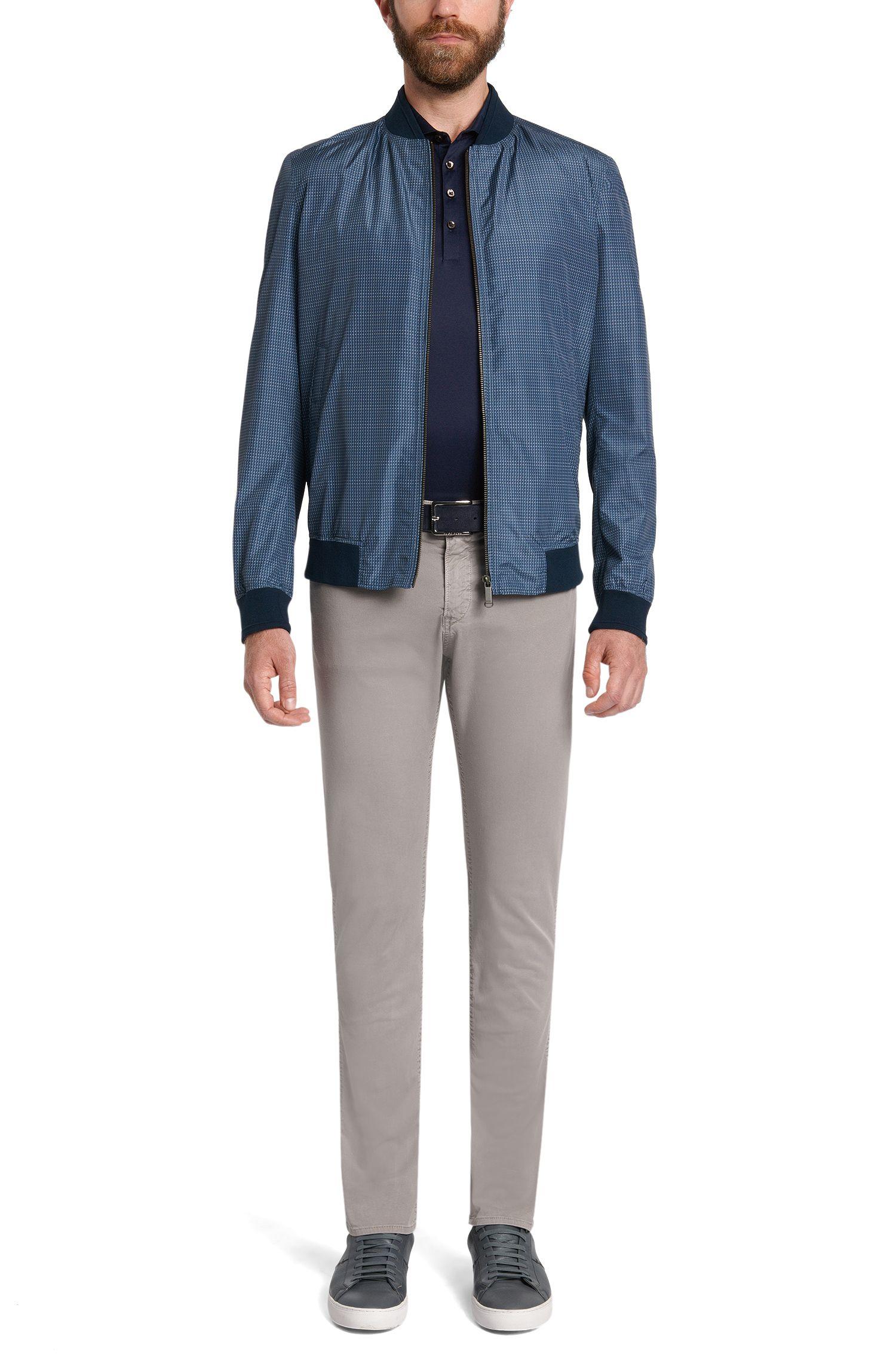 Slim-Fit Poloshirt aus merzerisierter Baumwolle:' Plummer 02'