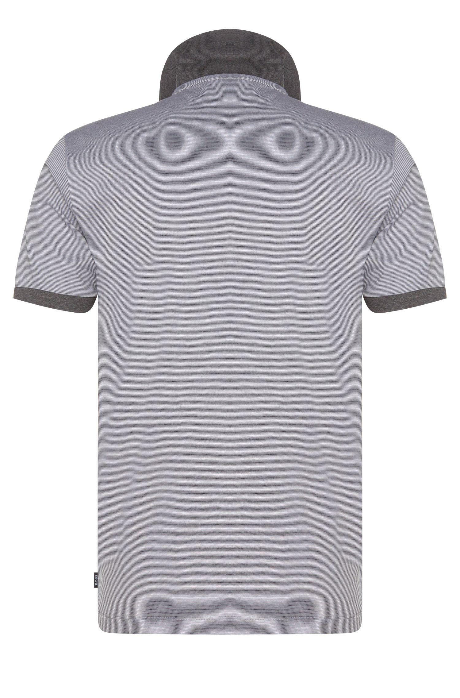 Gestreiftes Slim-Fit Poloshirt aus Baumwolle: 'Penrose 05'