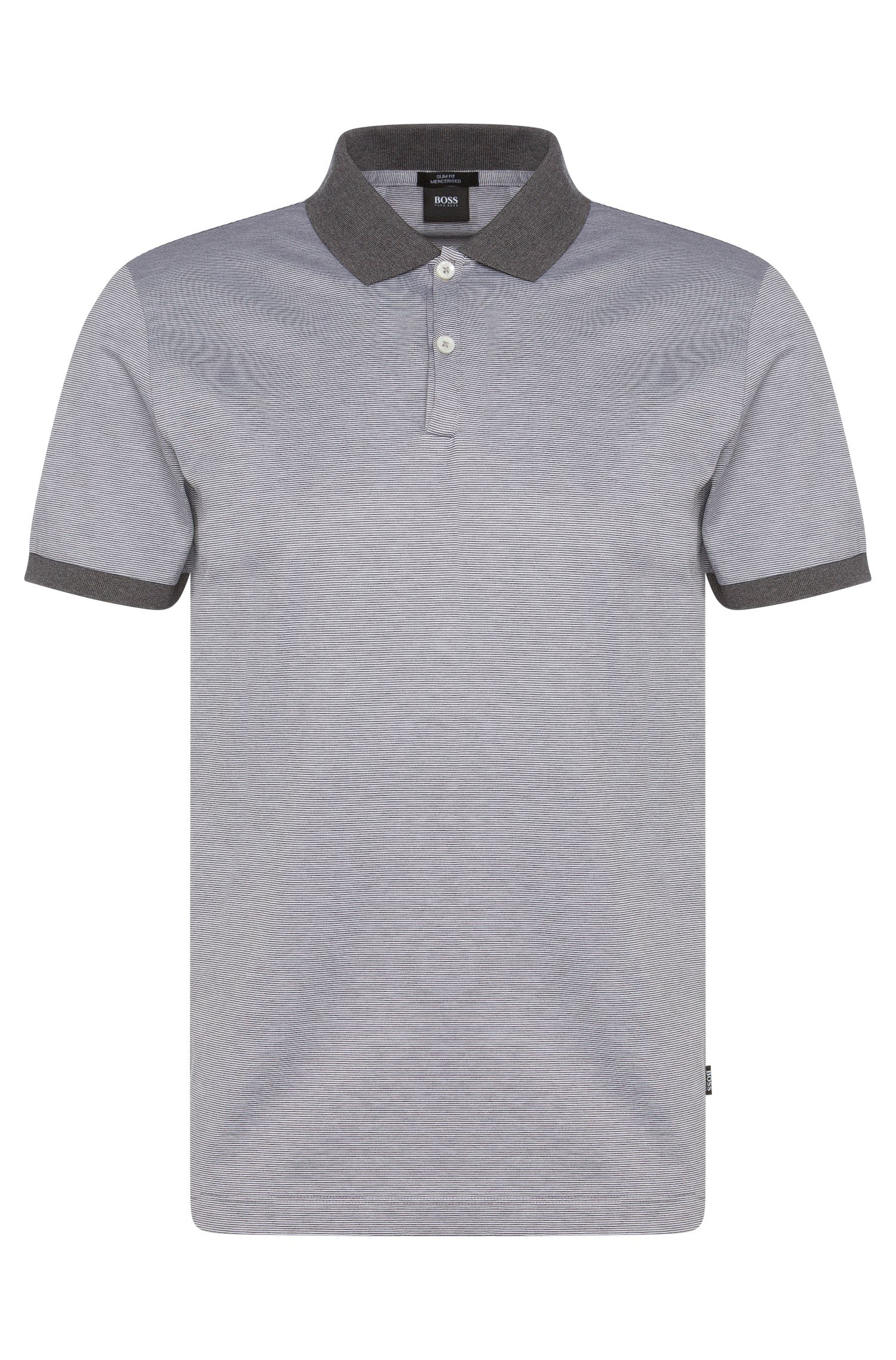 Striped slim-fit polo shirt in cotton: 'Penrose 05'