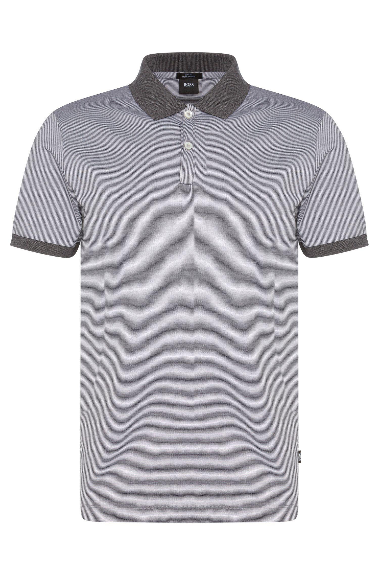 Polo à rayures Slim Fit en coton: «Penrose05»