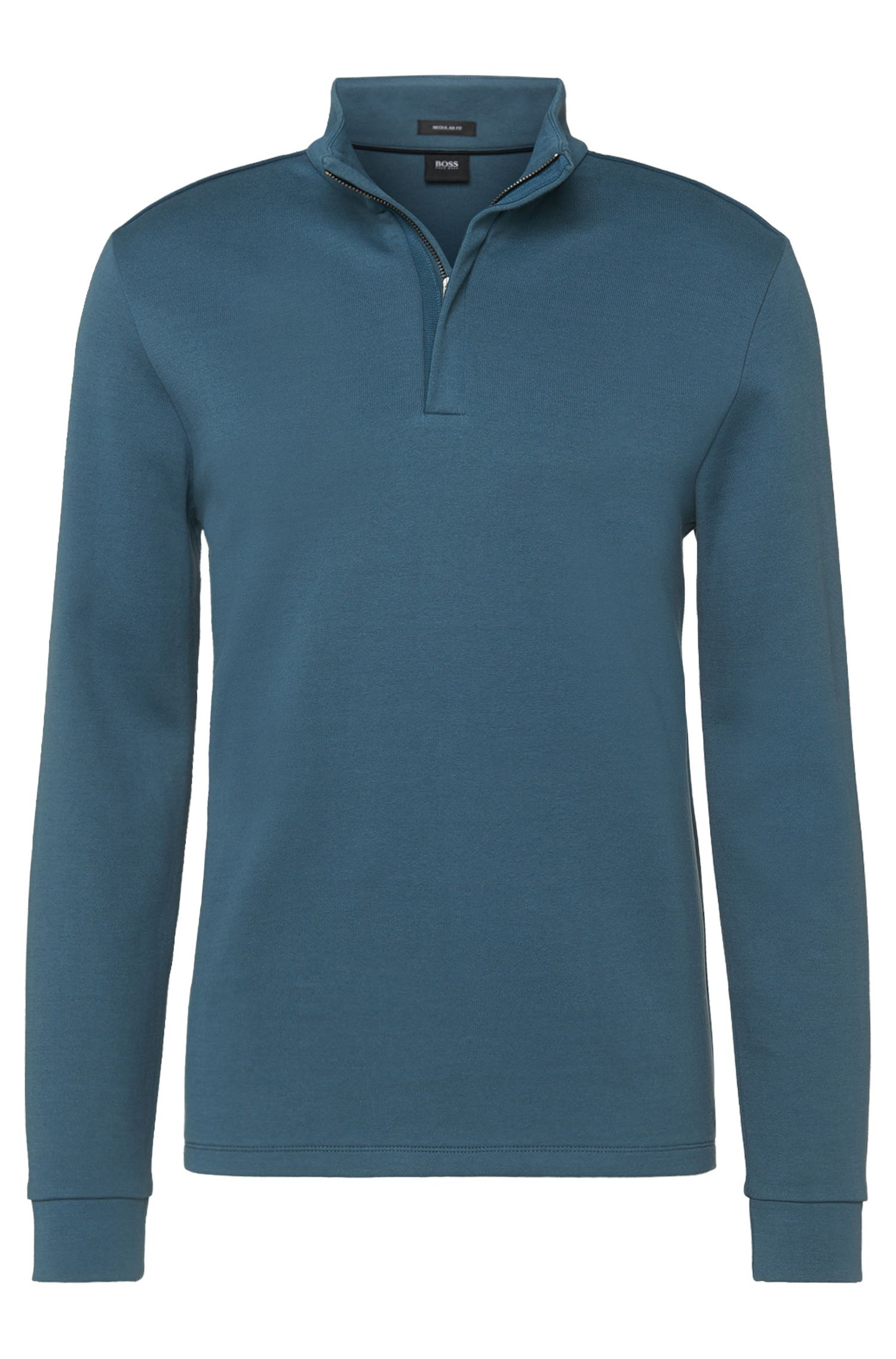 Unifarbenes Regular-Fit Sweatshirt aus Baumwoll-Mix: 'Sidney 04'