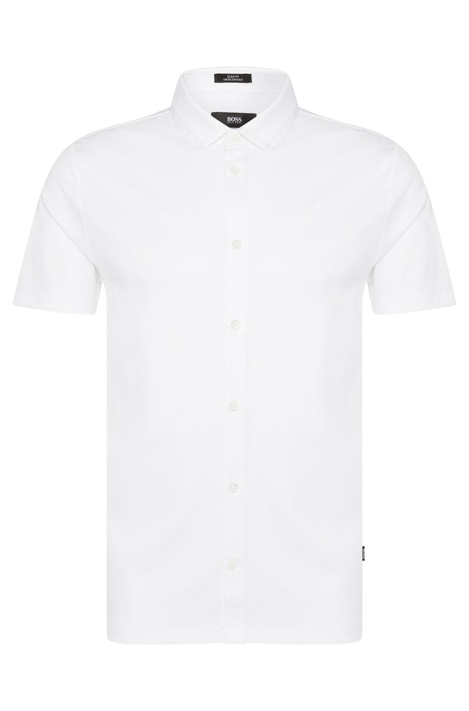 Polo Slim Fit en coton, à boutons: «Puno02»