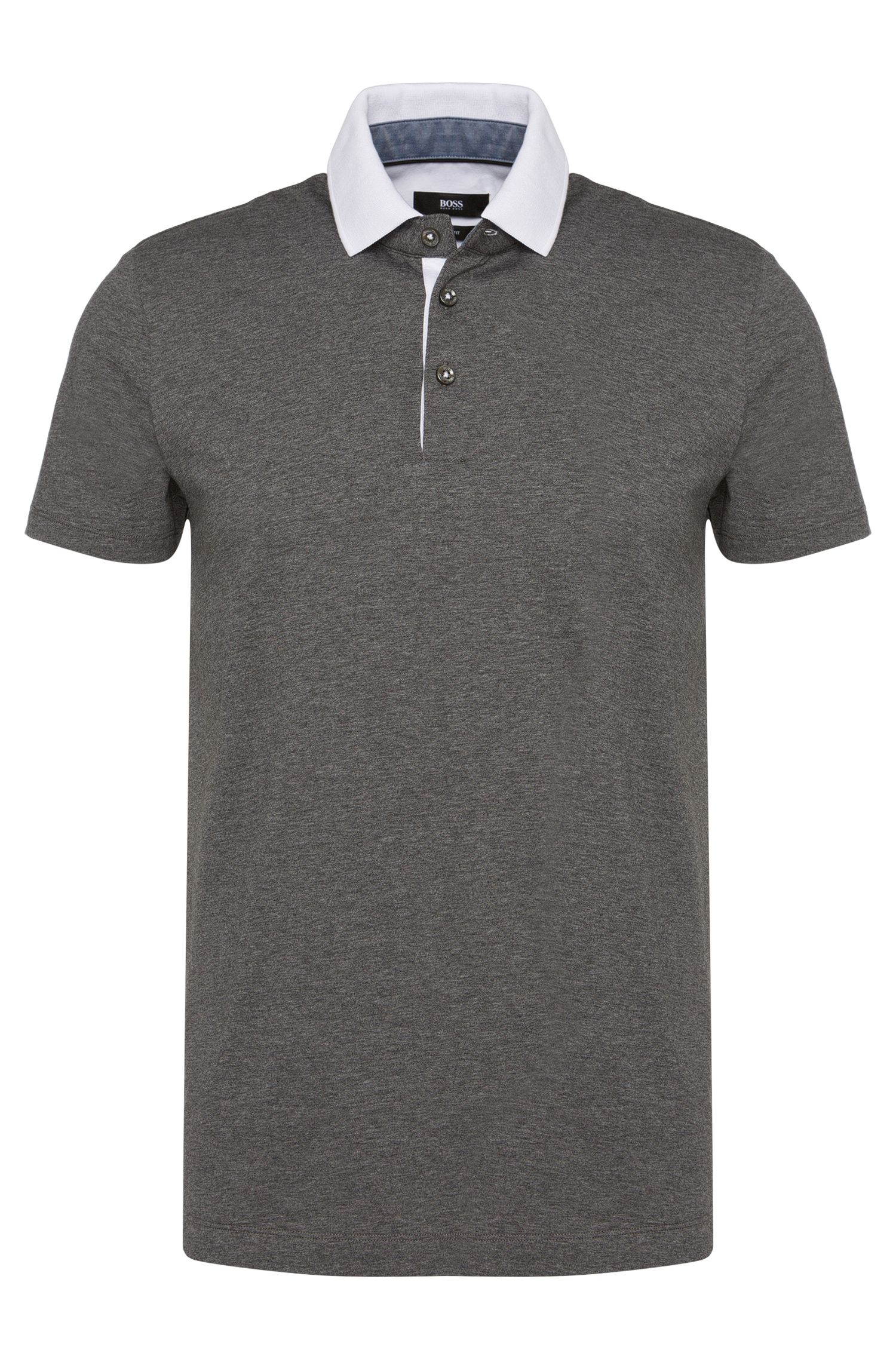Polo slim fit in cotone: 'Place 10'