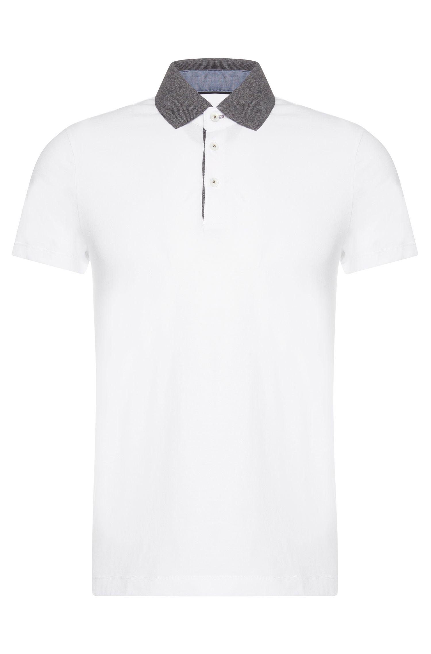 Slim-Fit Poloshirt aus Baumwolle: 'Place 10'