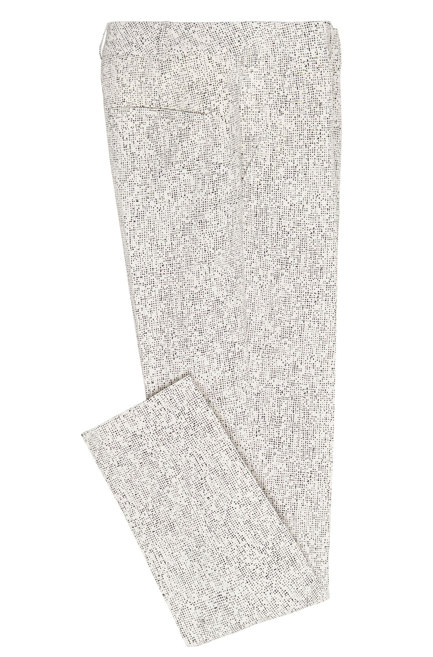 Broek met dessin in een kortere lengte: 'Acnes6'