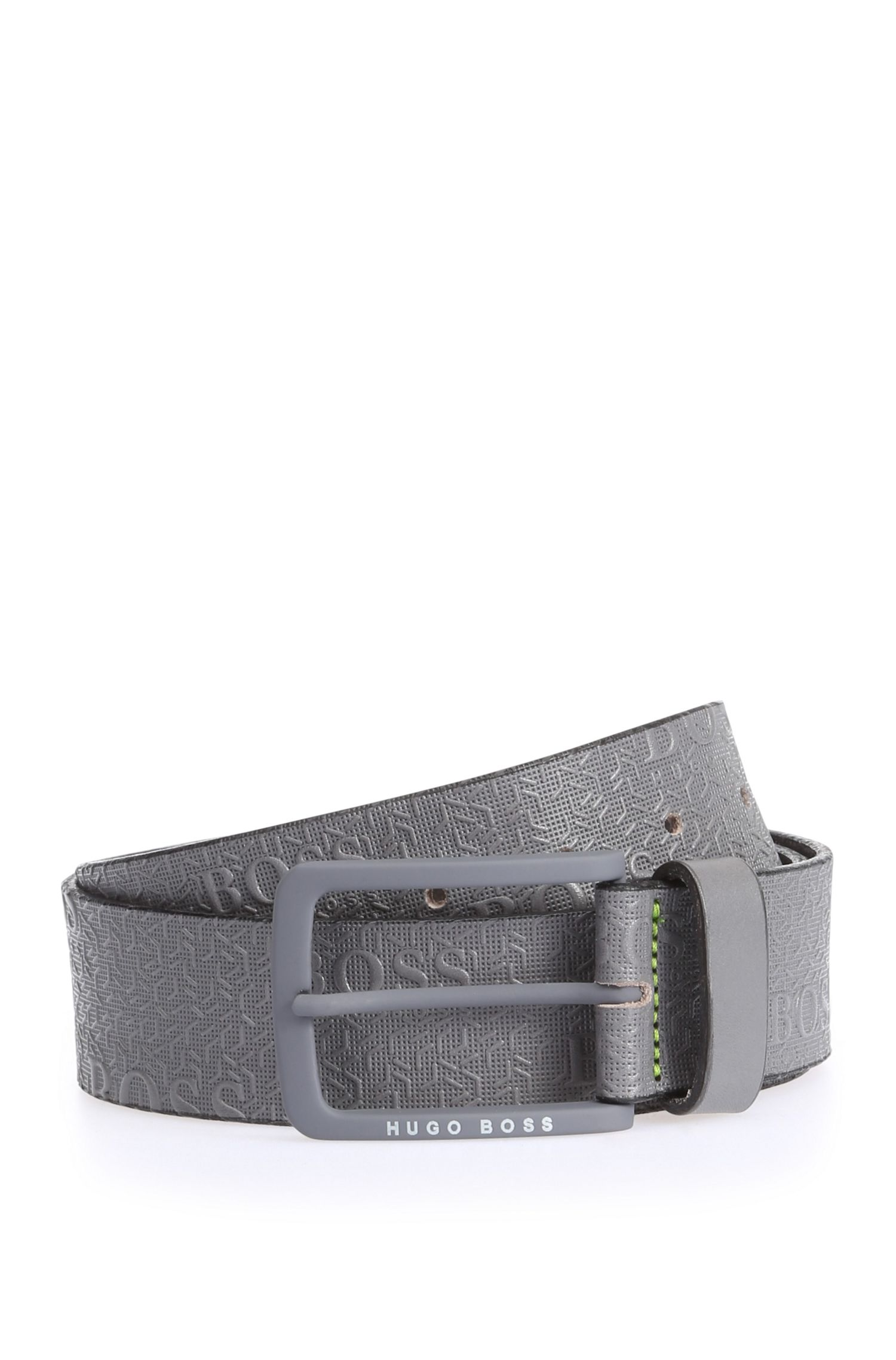 Embossed leather belt: 'Tad_Sz40_ltem'