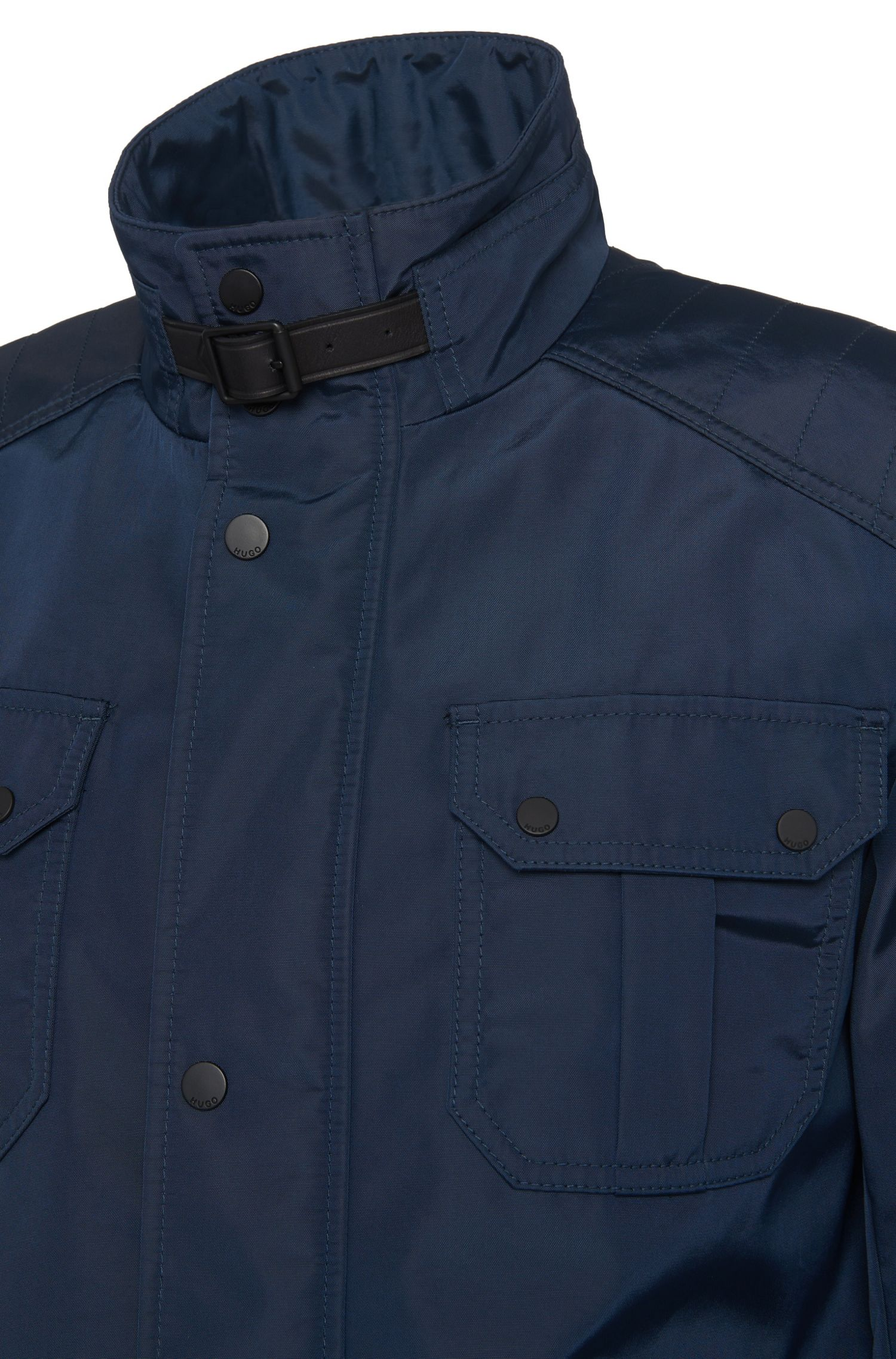 Regular-fit fieldjacket van een materiaalmix: 'Balyx1'