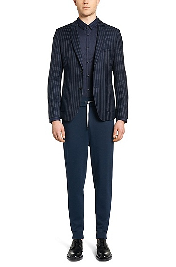 Veste de costume Comfort Fit en pure laine vierge: «Agto», Bleu foncé