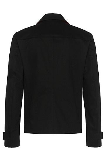 Regular-Fit Mantel aus Baumwolle: 'Banteno', Schwarz