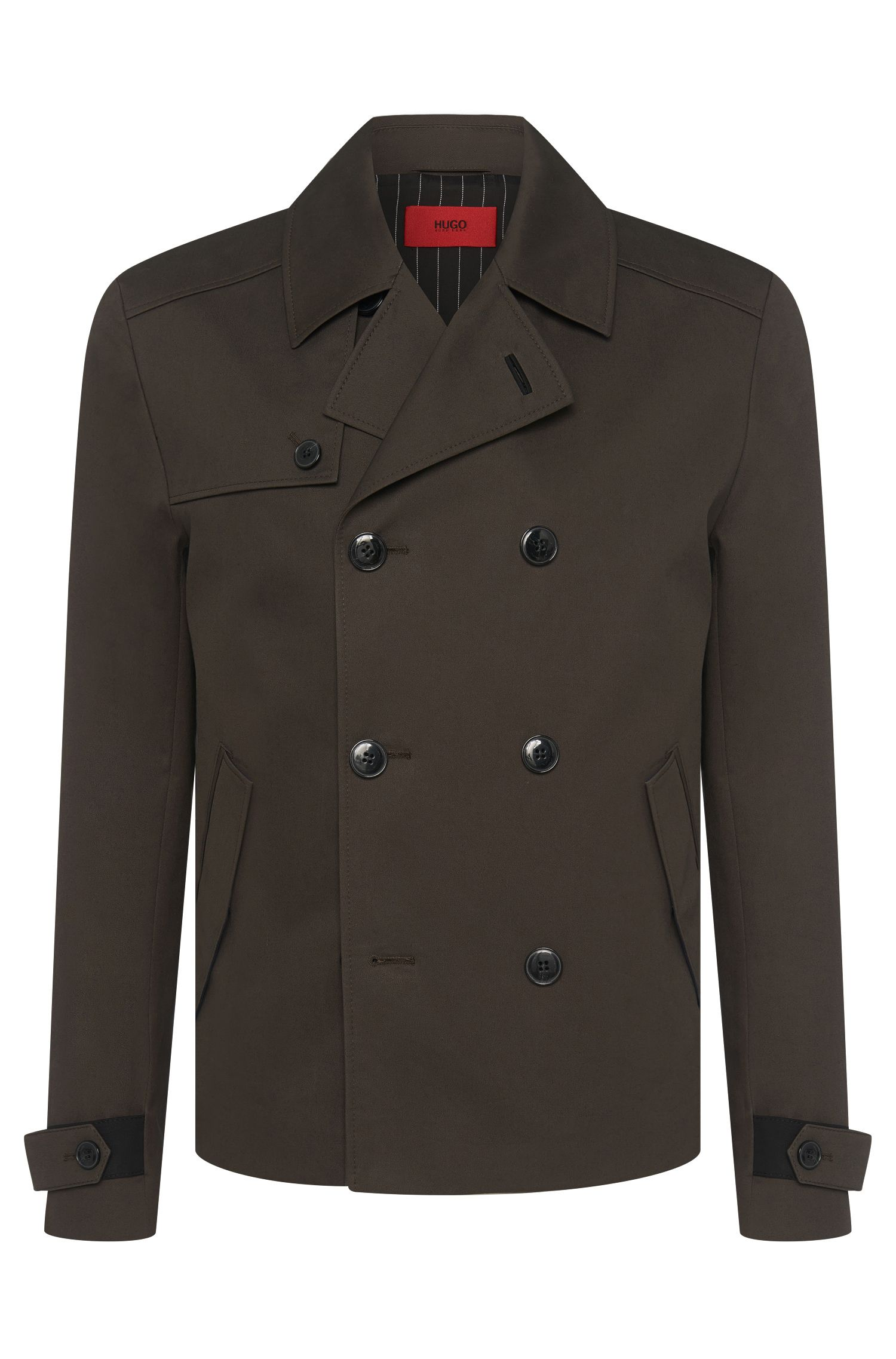 Regular-fit coat in cotton: 'Banteno'