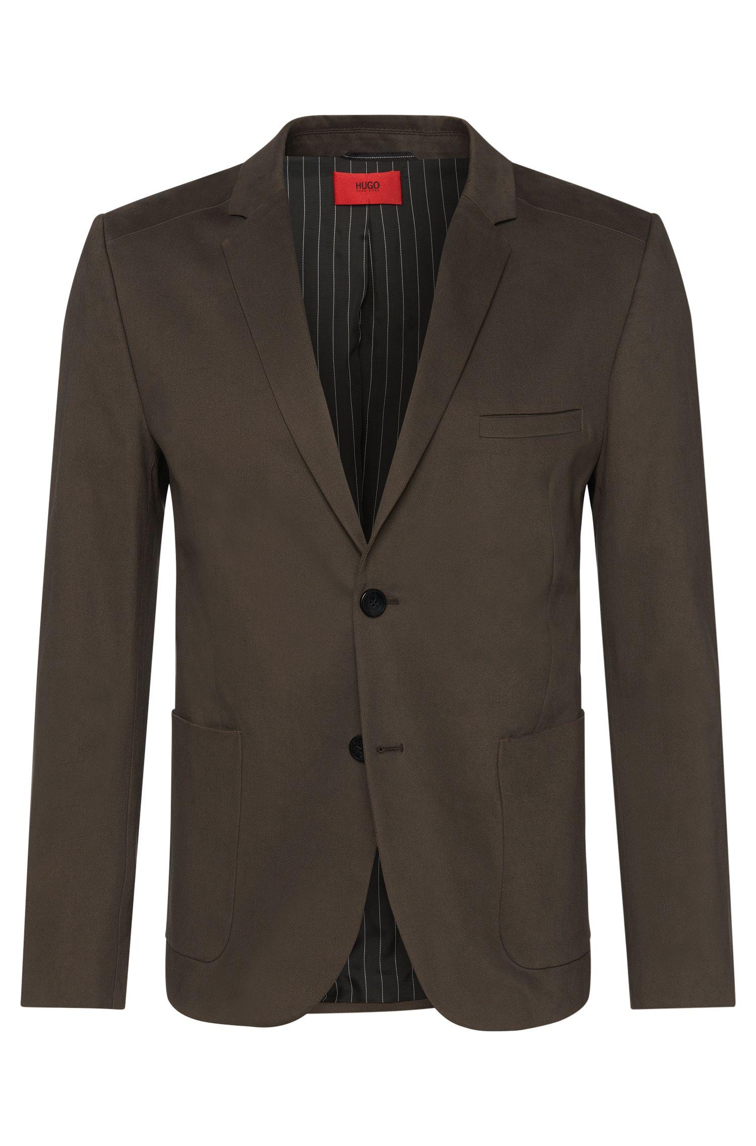 Americana comfort fit en algodón elástico con bolsillos amplios cosidos: 'Agto'