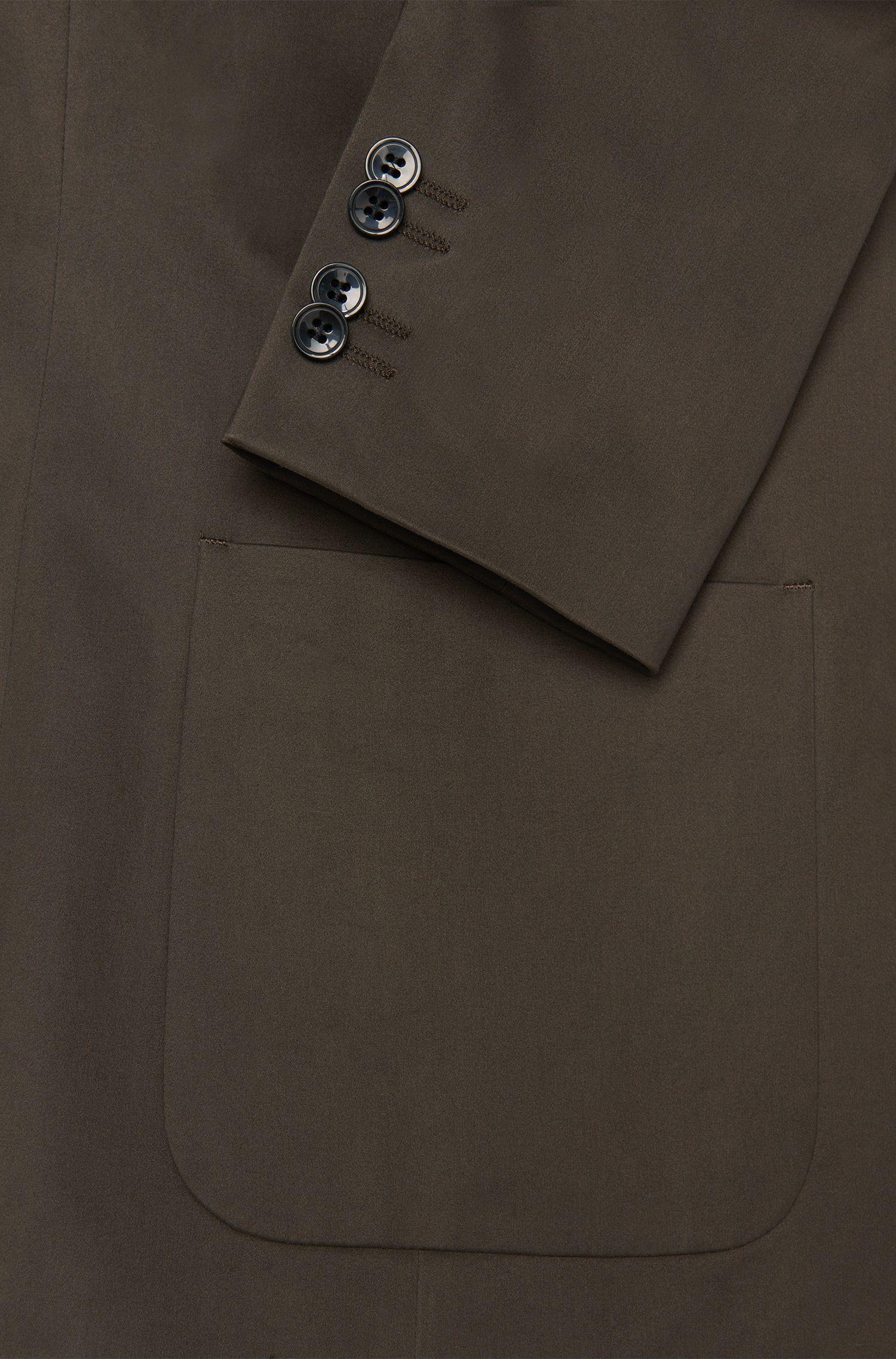 Comfort-Fit Sakko aus Stretch-Baumwolle mit aufgesetzten Eingrifftaschen: 'Agto'