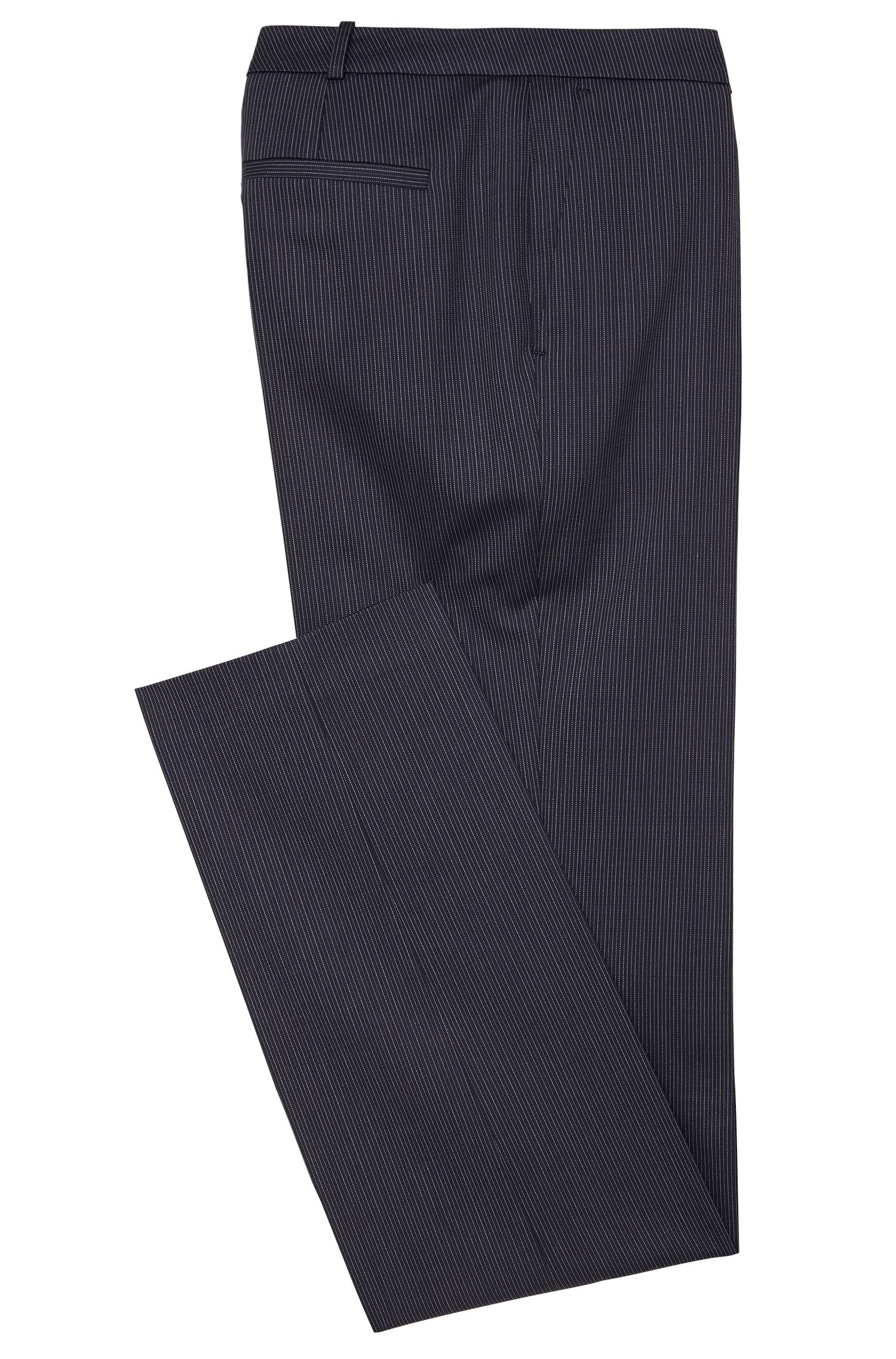 Fein gestreifte Regular-Fit Hose aus Stretch-Schurwolle: 'Tamea1'