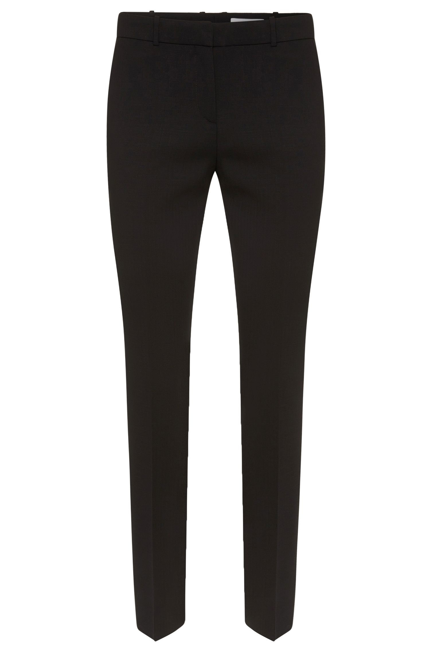 Slim fit cropped trousers in stretchy new wool: 'Tiluna7'