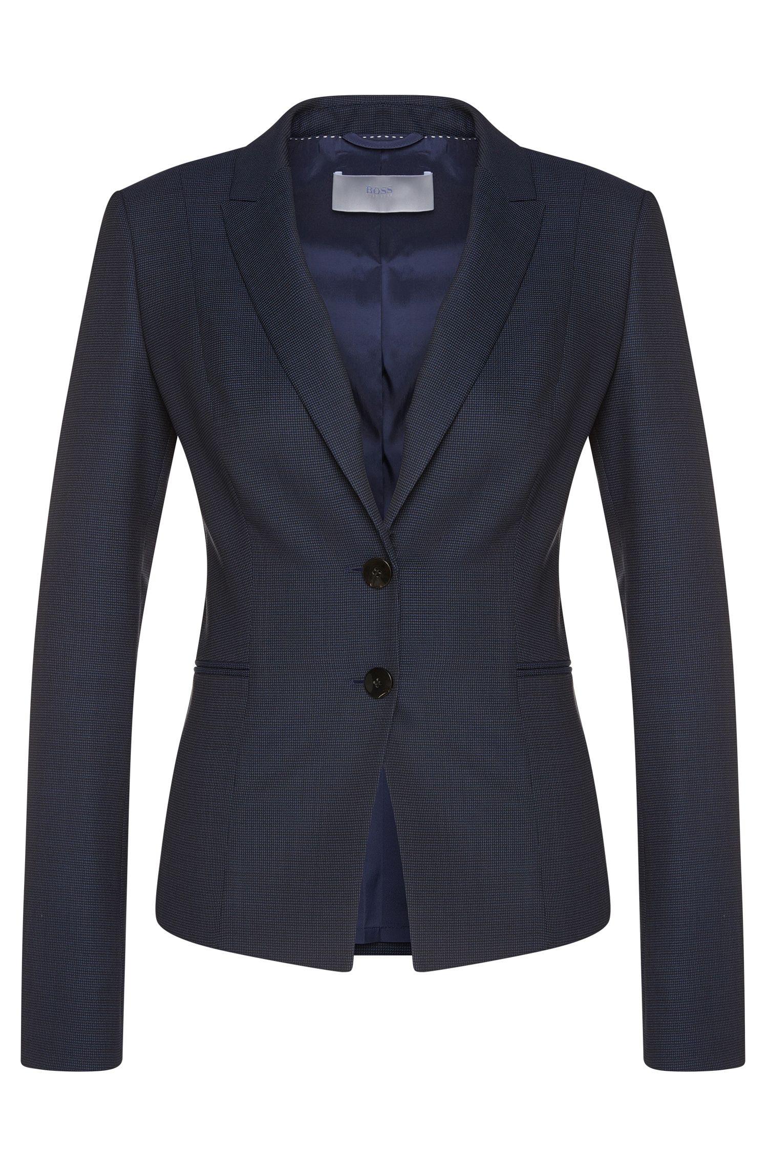 Finely checked blazer in stretch new wool: 'Jitobia'