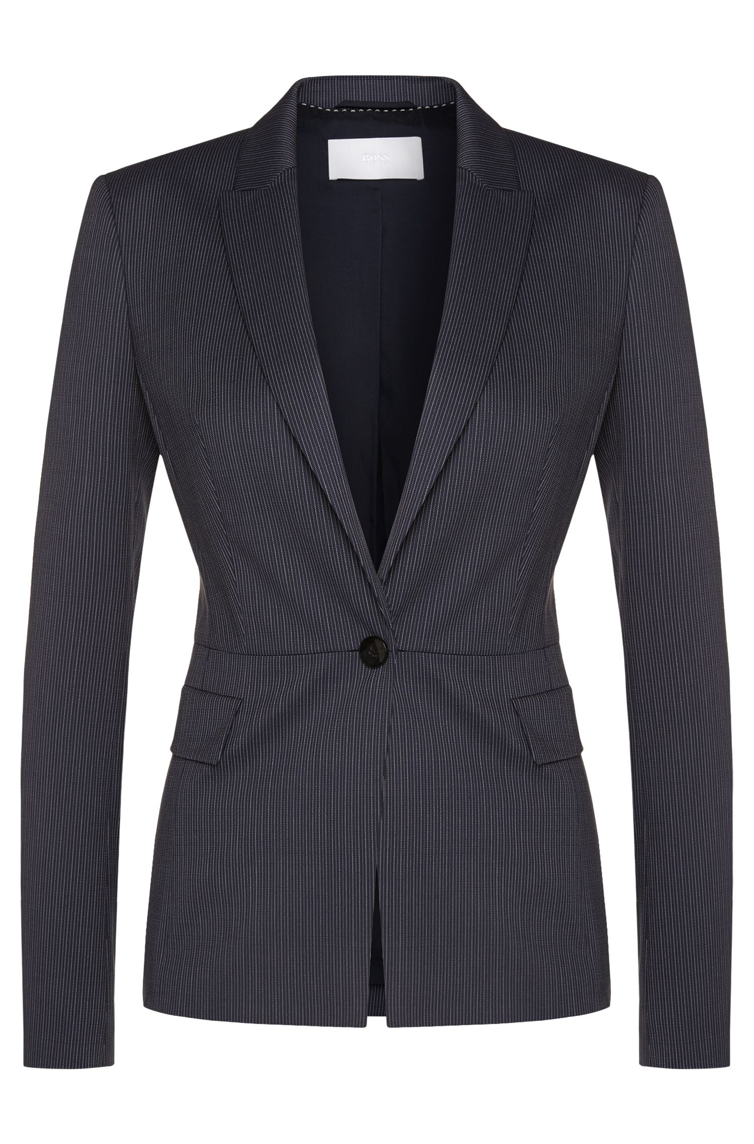 Finely striped blazer in stretch new wool: 'Jifabio'