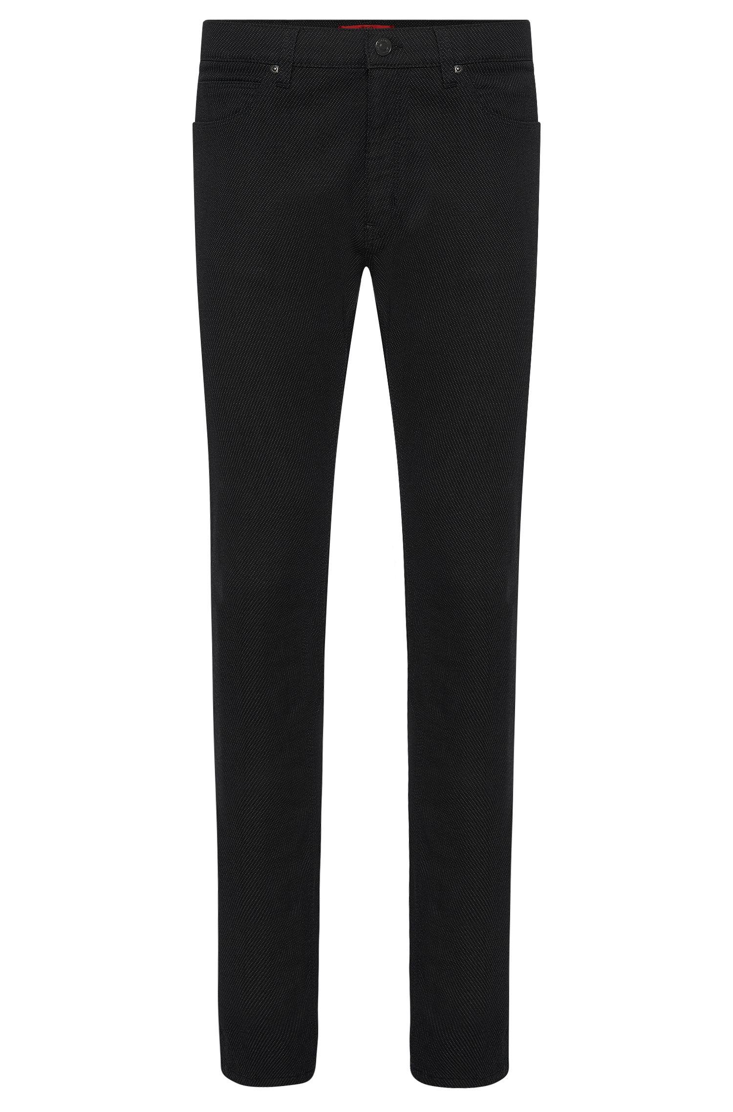Jeans Slim Fit en coton mélangé extensible: «HUGO734»