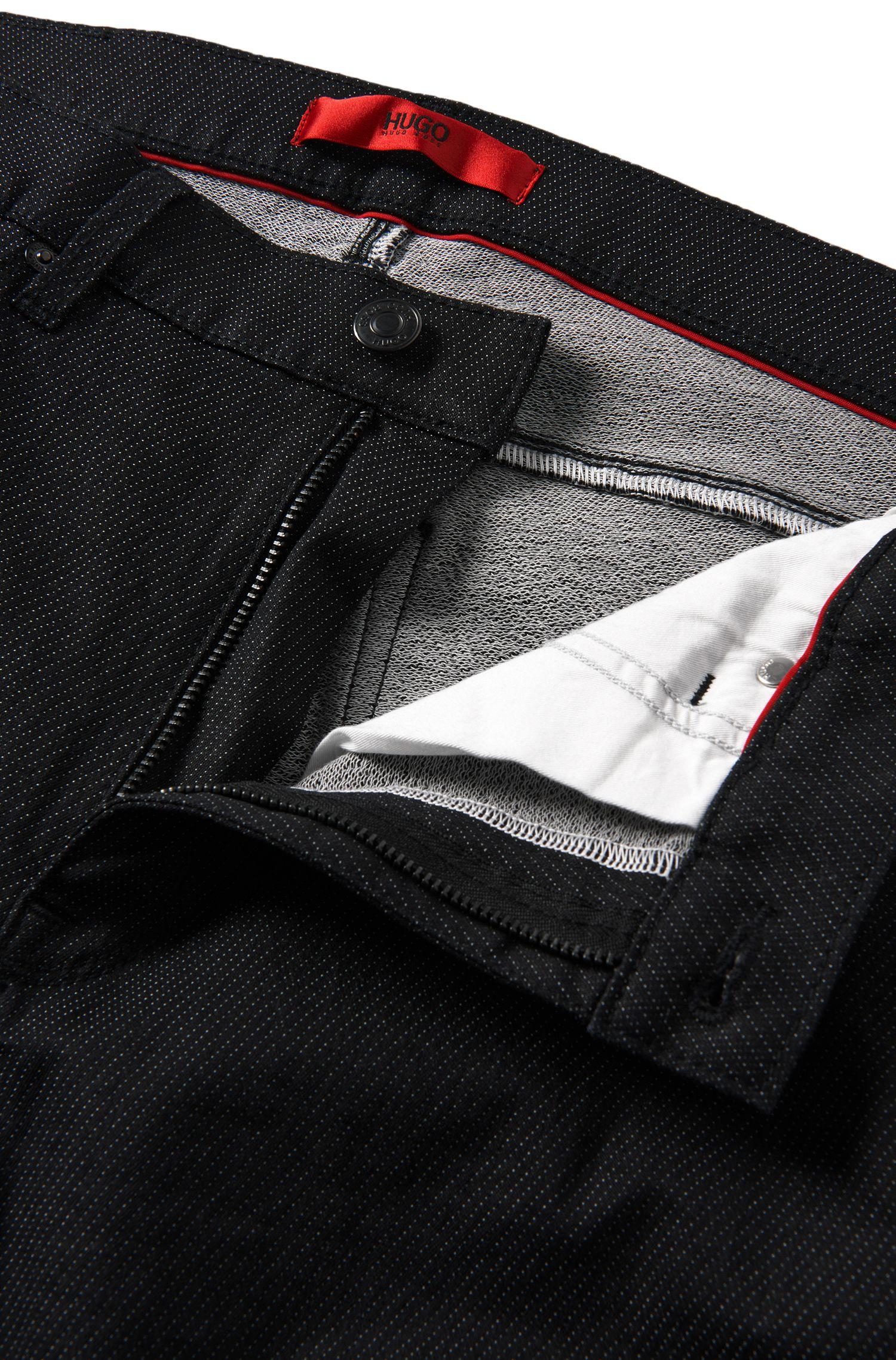 Slim-Fit Jeans aus elastischem Baumwoll-Mix: 'HUGO 734'