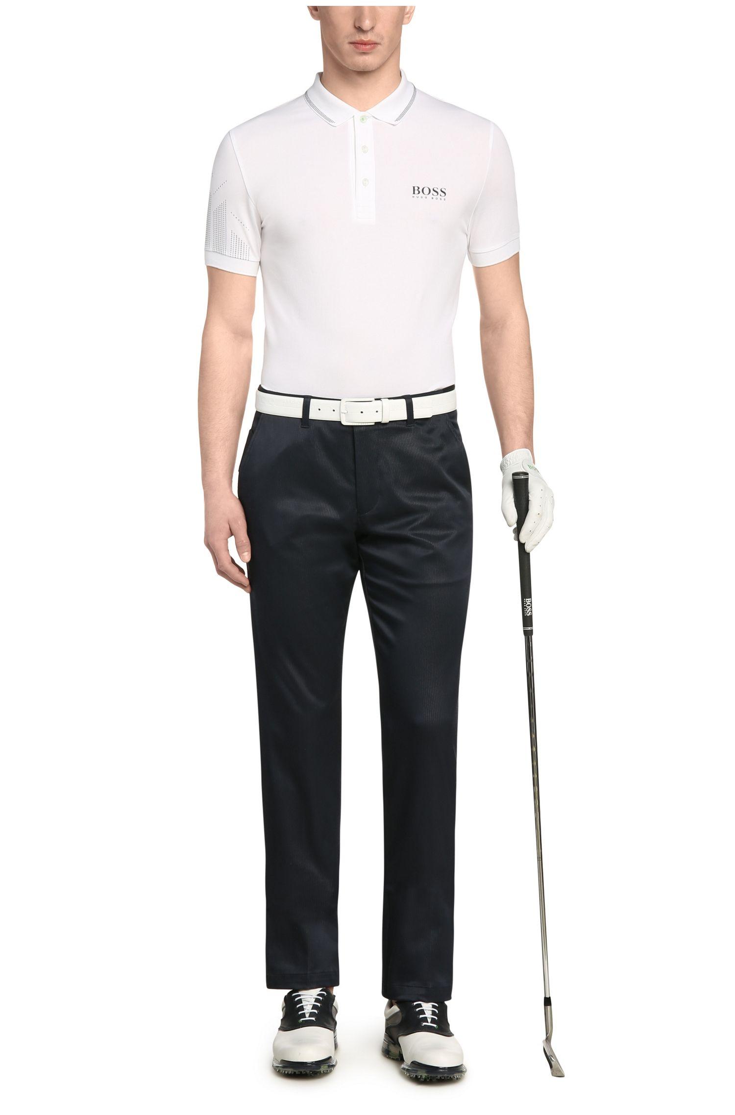 Slim-Fit Golf-Polo aus Funktionstextil: ´Paule Pro`