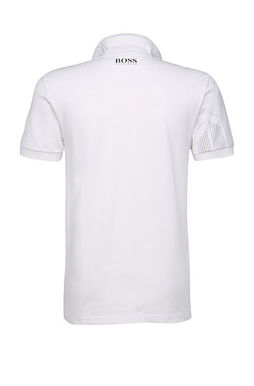 Slim-Fit Golf-Polo aus Funktionstextil: ´Paule Pro`, Weiß