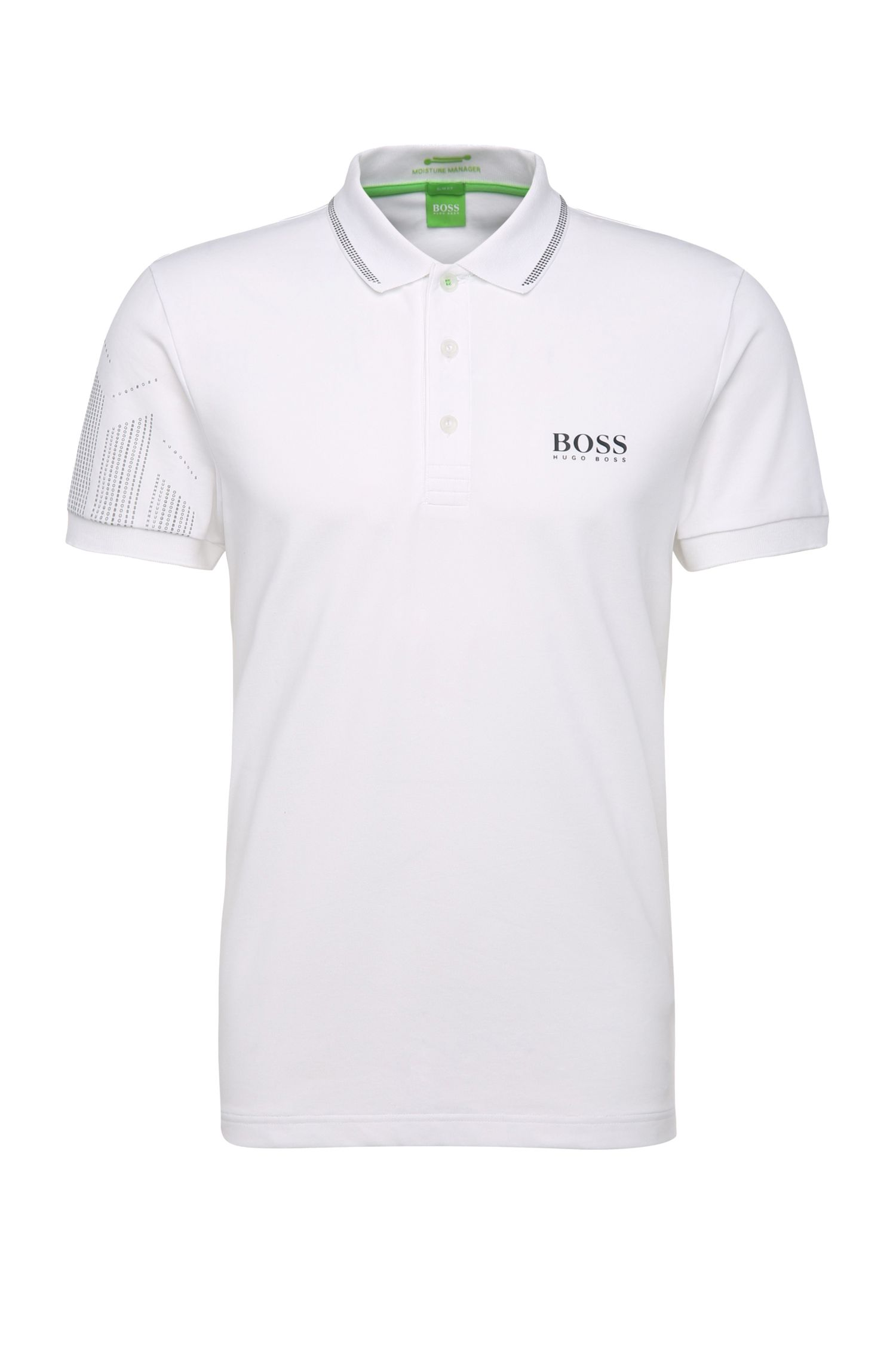 Slim-Fit Golf-Polo aus Funktionstextil: ´Paule Pro`