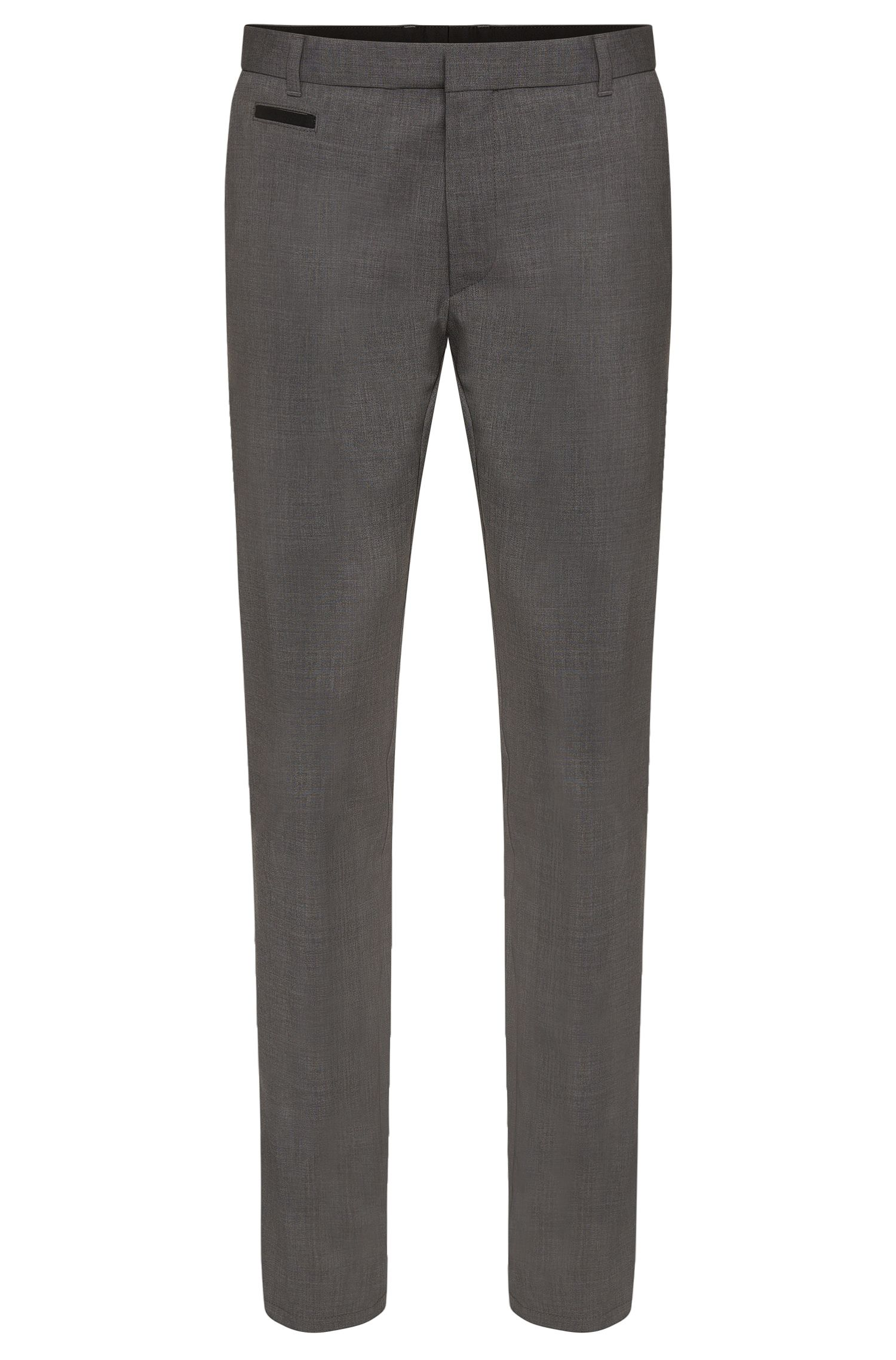 Pantalon Slim Fit en laine vierge stretch : « Heralt »
