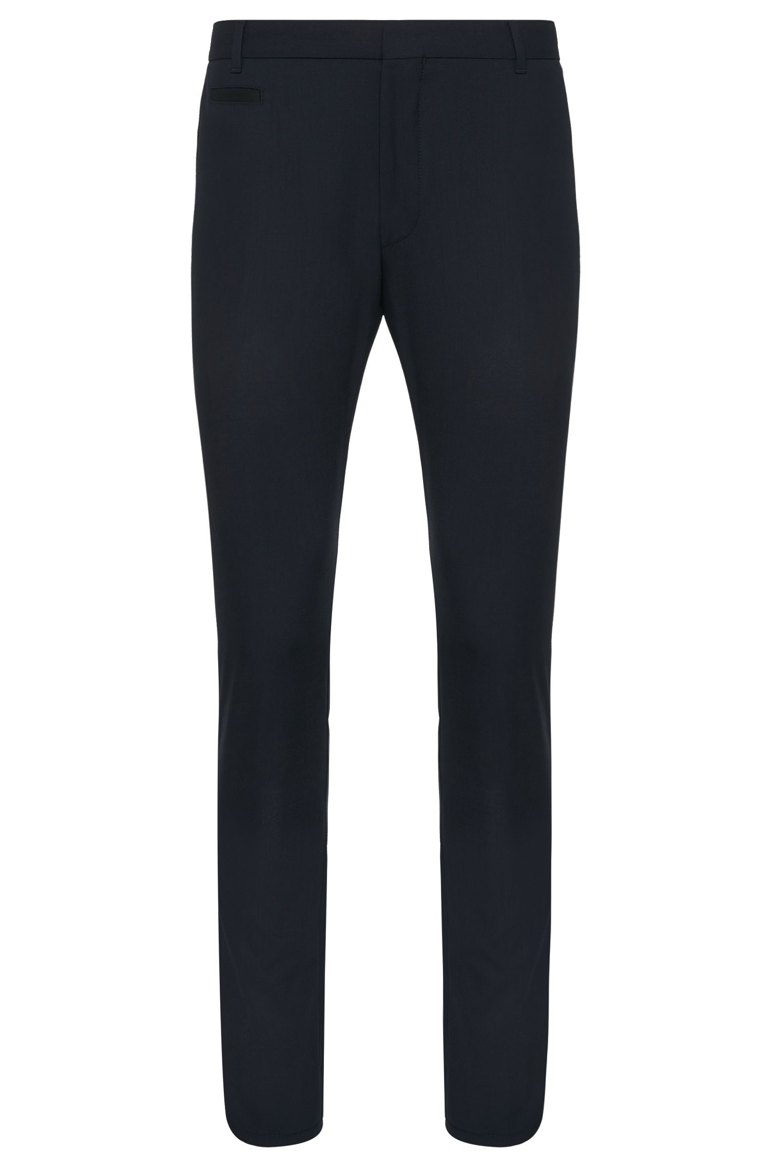 Slim-fit trousers in stretch new wool: 'Heralt'