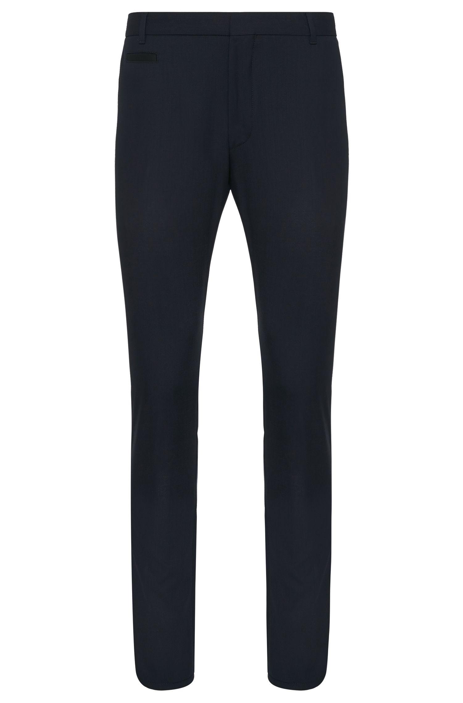 Pantalón slim fit en lana virgen elástica: 'Heralt'
