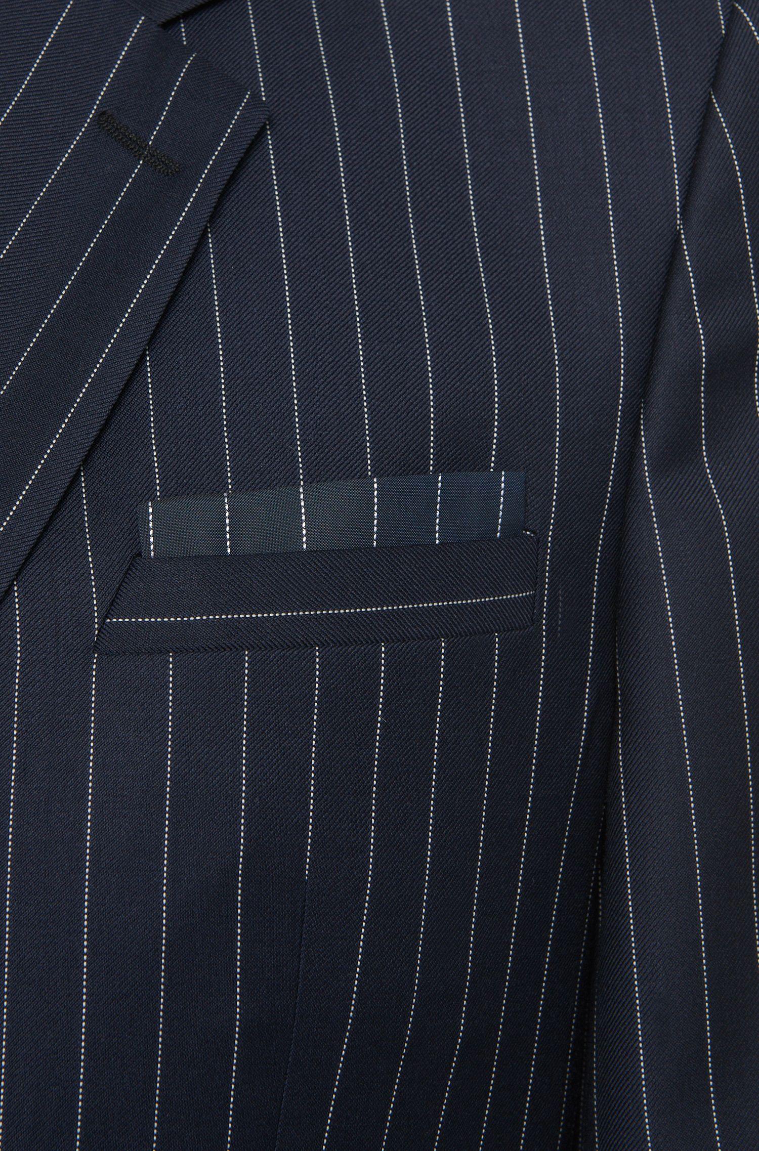Slim-Fit Anzug aus Schurwolle im Nadelstreifen-Dessin: 'Aralt/Herlon'