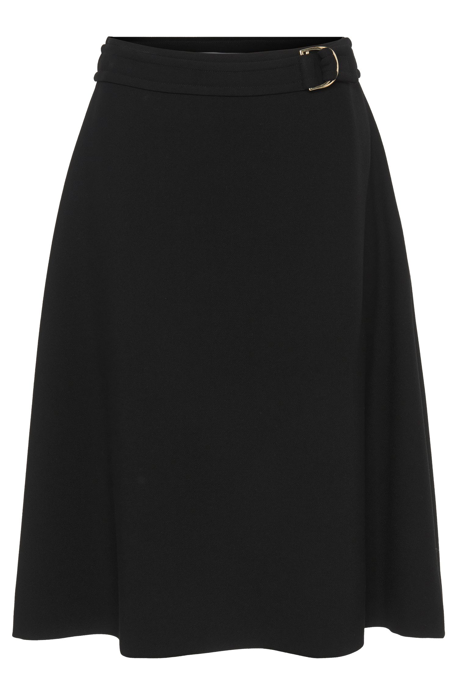 Flared skirt with buckle: 'Malera'