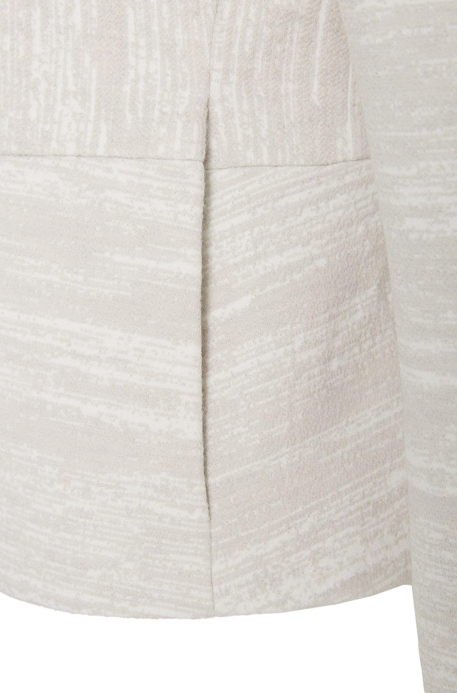 Blazer met brede strepen van een materiaalmix met scheerwol: 'Kamea'