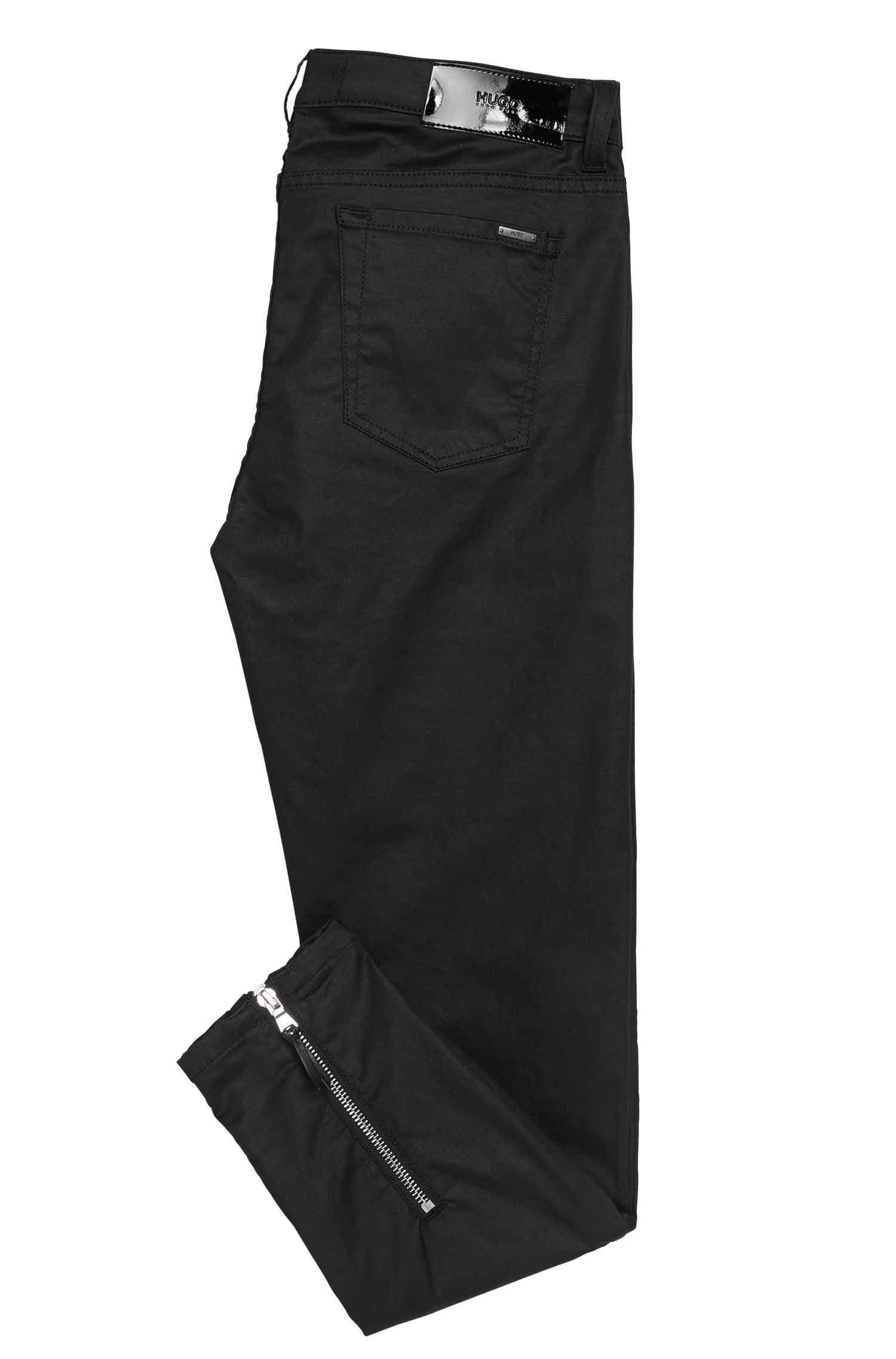 Skinny-Fit Jeans aus elastischem Baumwoll-Mix mit Zippern: 'Gilljana/9'