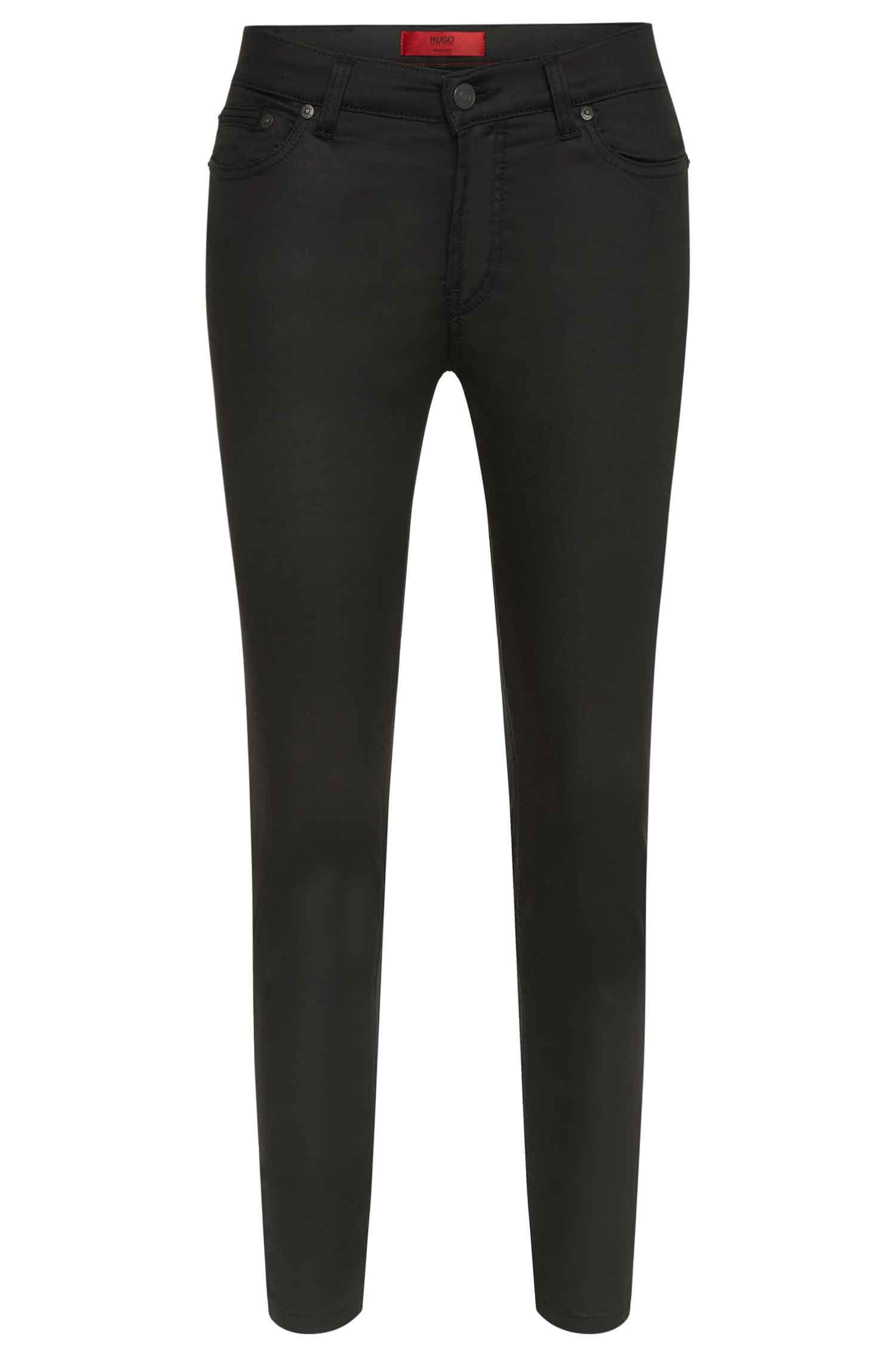 Jeans Skinny Fit en coton mélangé extensible, doté de zips: «Gilljana/9»