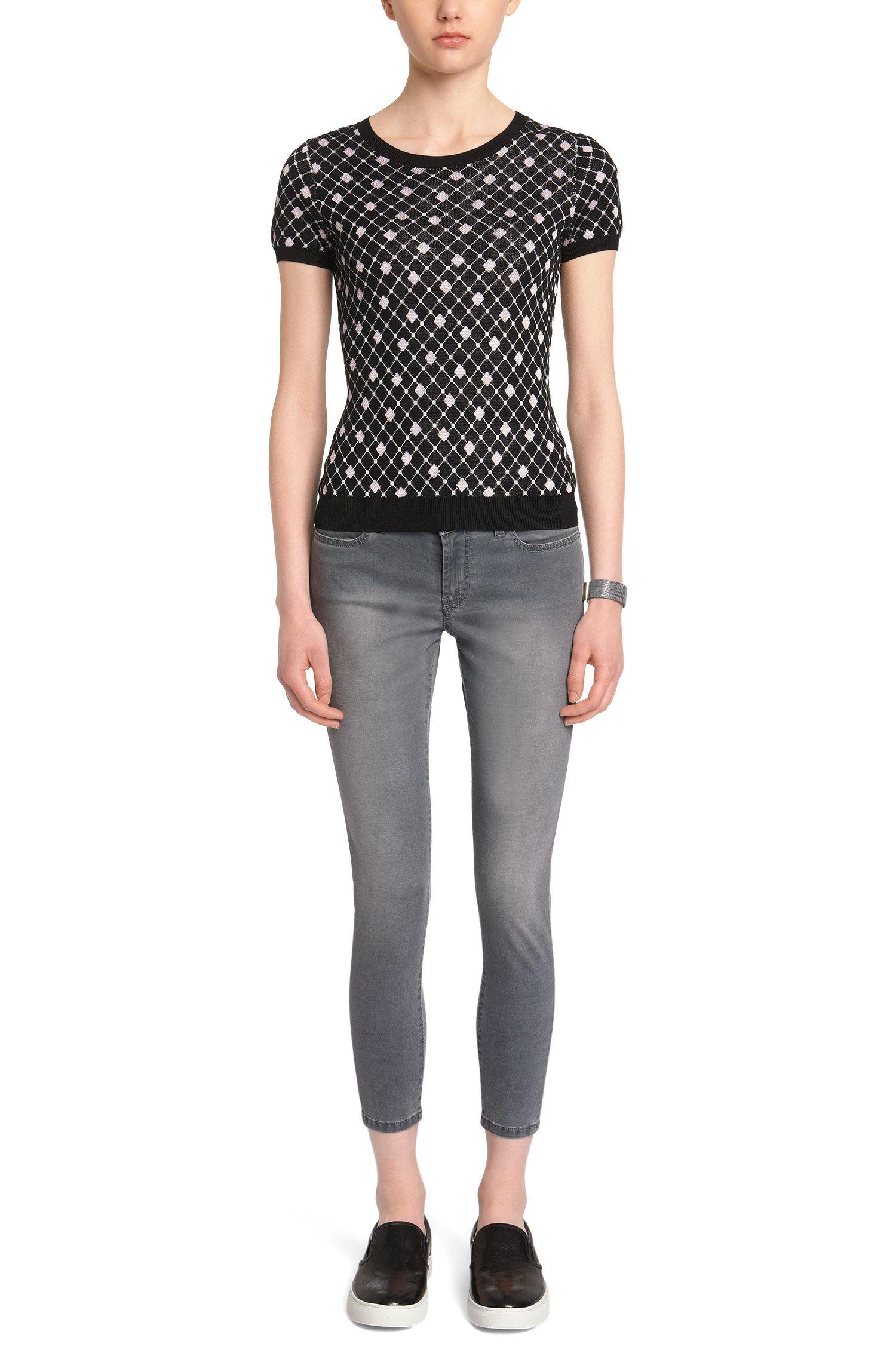 Jeans Skinny Fit doté de zips décoratifs: «Gilljana/7»