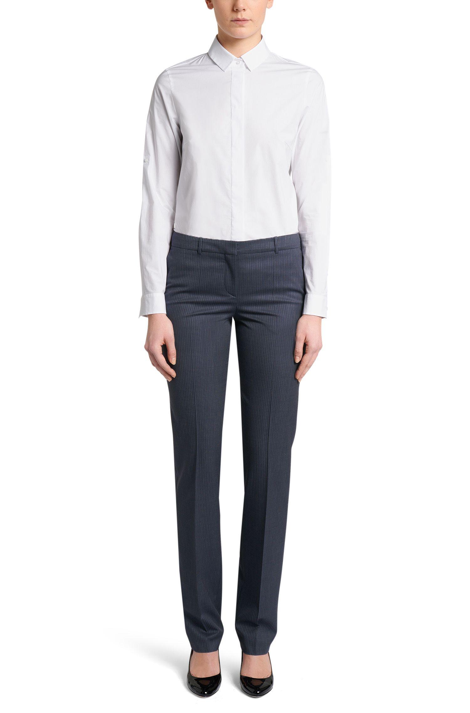 Standard-Fit Hemdbluse aus Stretch-Baumwolle: 'Ranila'