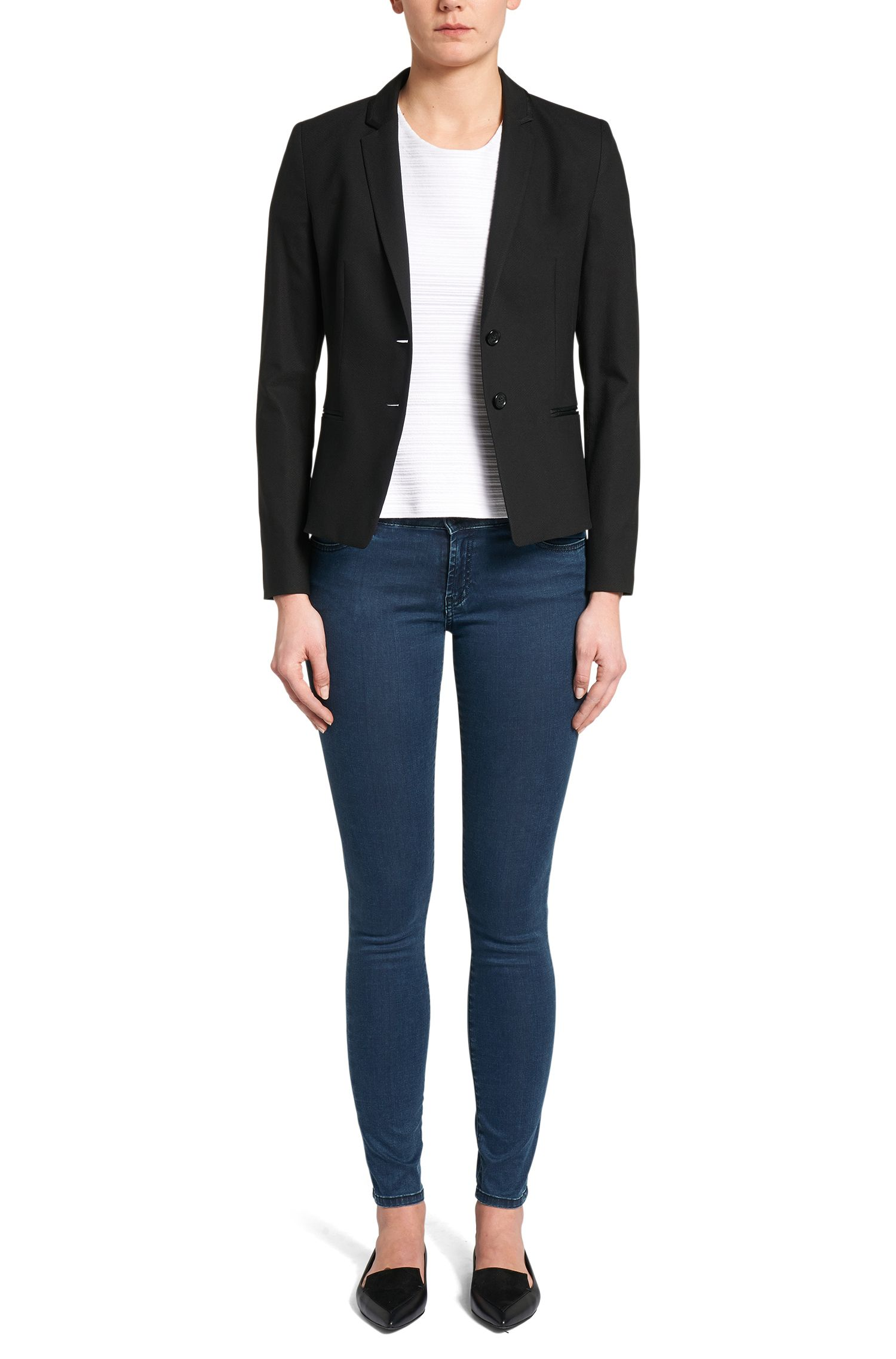 Jeans Super Skinny Fit en coton stretch: «Georgina»