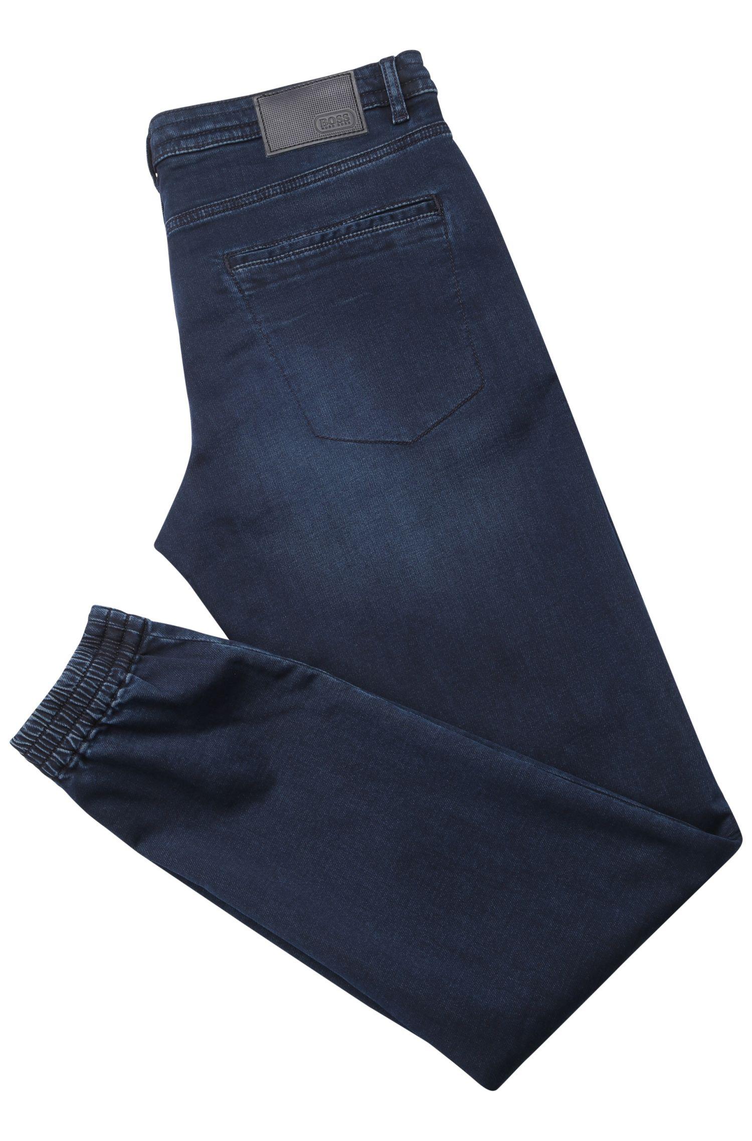 Tapered-Fit Jeans aus elastischer Baumwolle im Jogginghosen-Look: ´Darrel2`