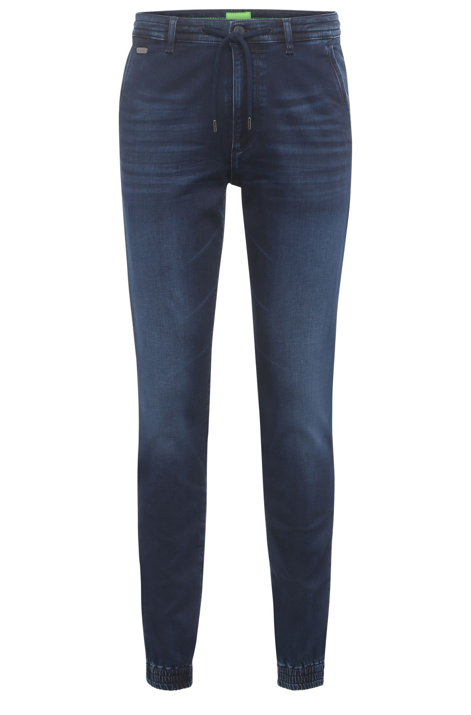 Jeans Tapered Fit en coton extensible au look jogging : « Darrel2 »