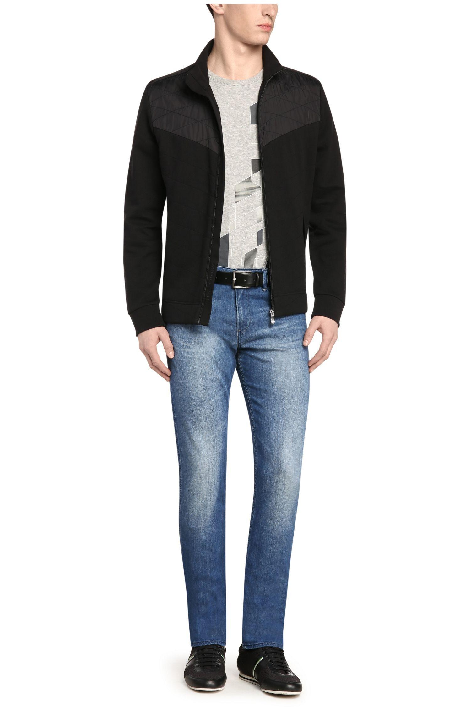 Slim-Fit Jeans aus verwaschenem Baumwoll-Stretch: ´C-DELAWARE1`