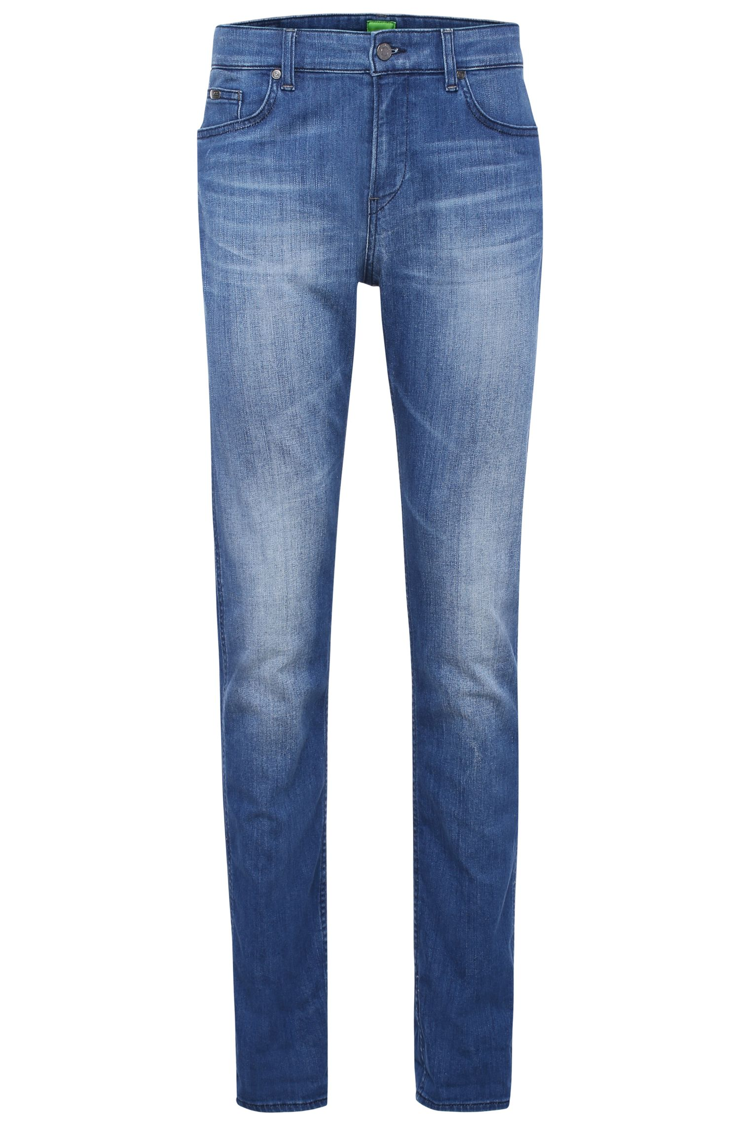 Slim-fit jeans in faded stretch cotton: 'C-DELAWARE1'