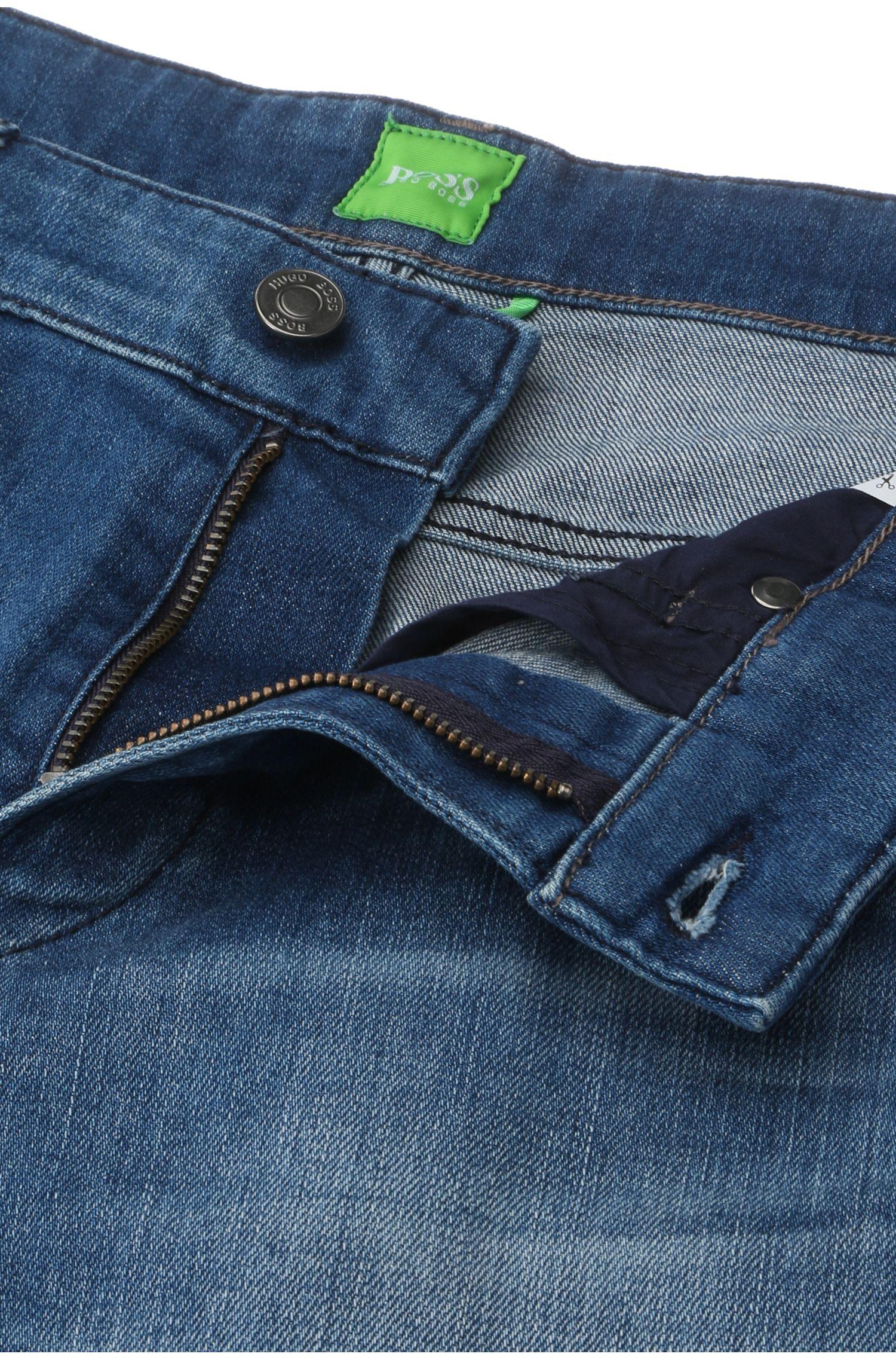 Jeans Slim Fit en coton stretch délavé: «C-DELAWARE1»