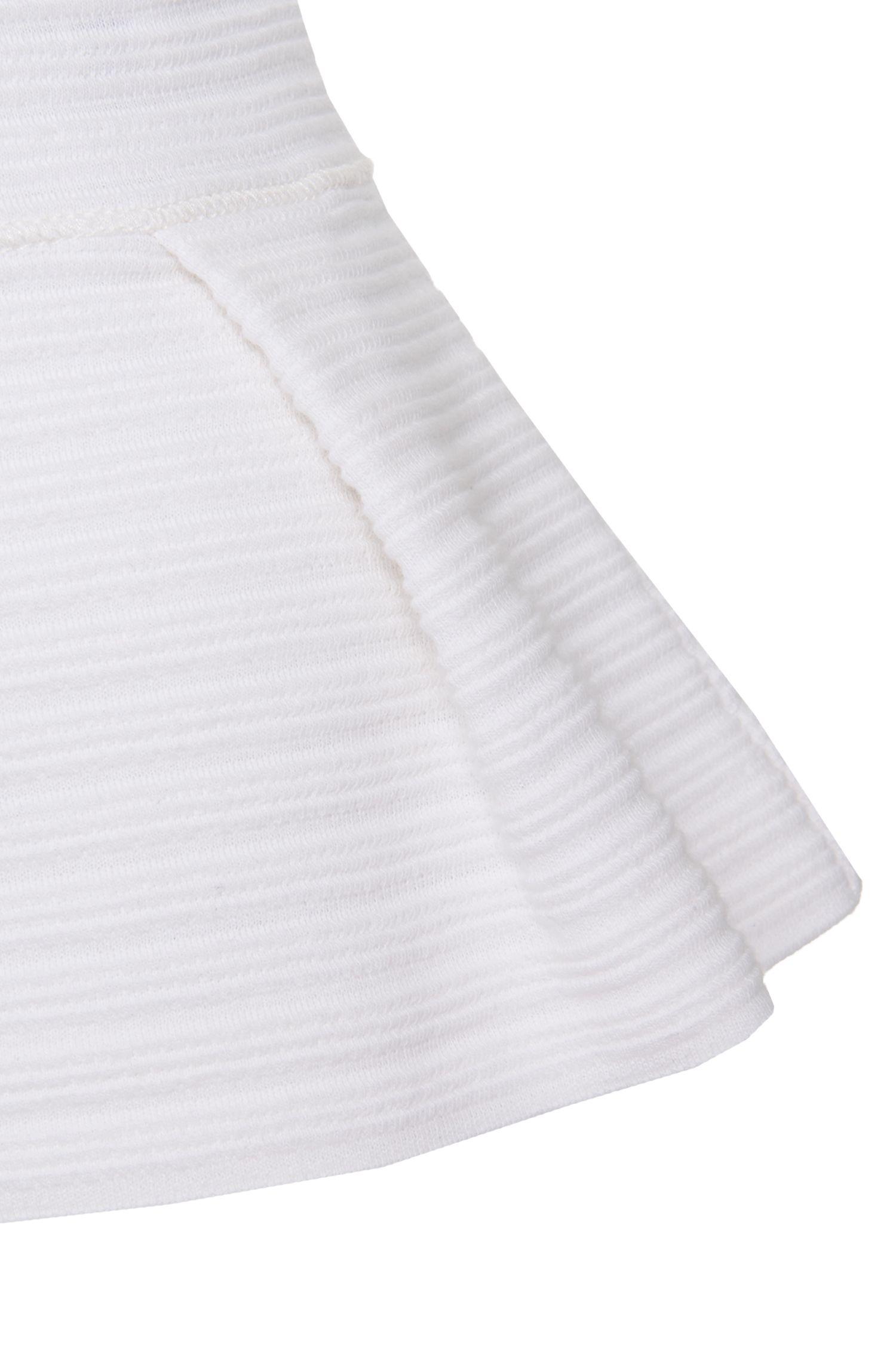 T-Shirt aus strukturierter Stretch-Baumwolle: 'Nelice'