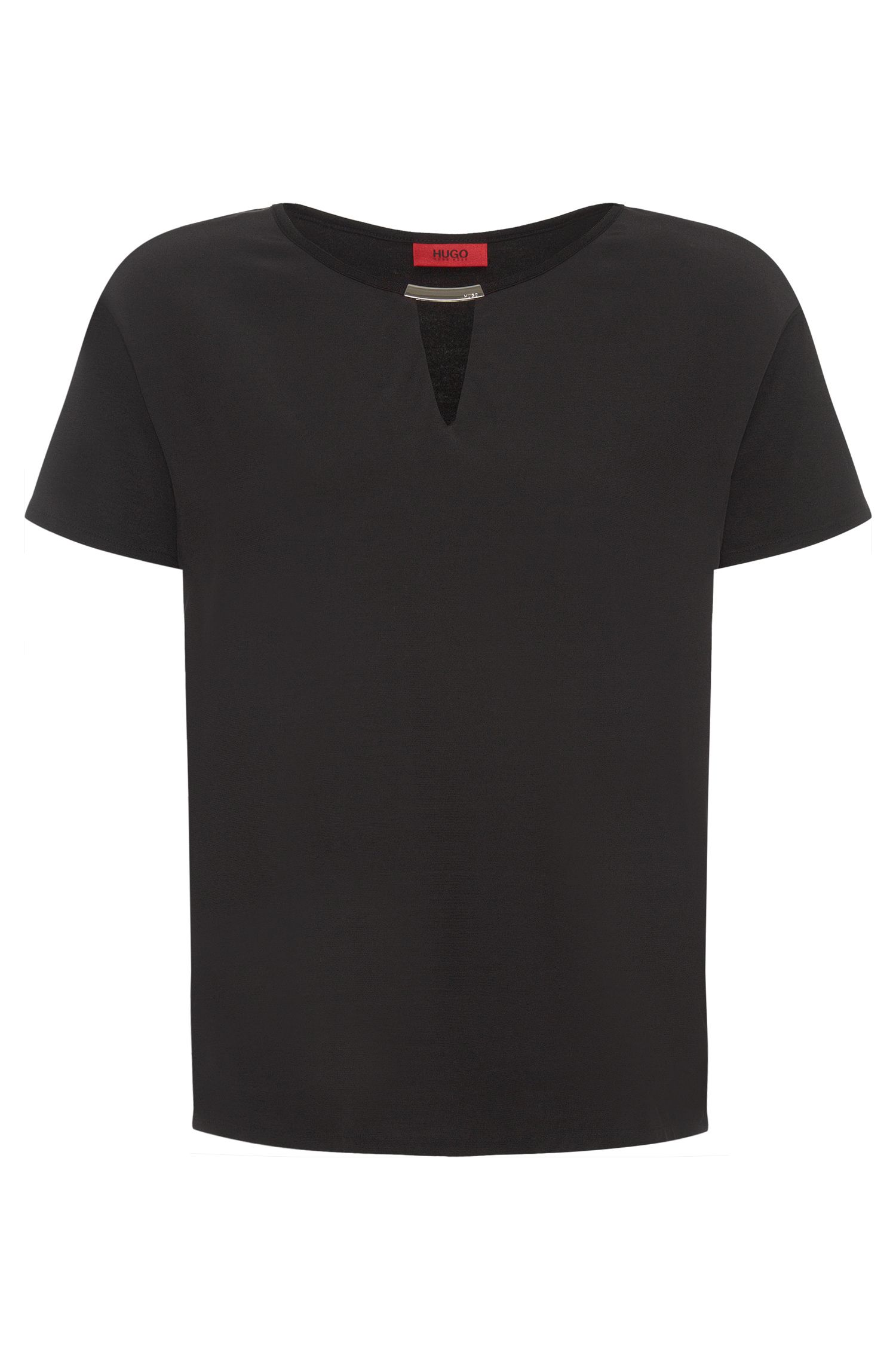 T-shirt blousant uni en viscose stretch : « Dicava »